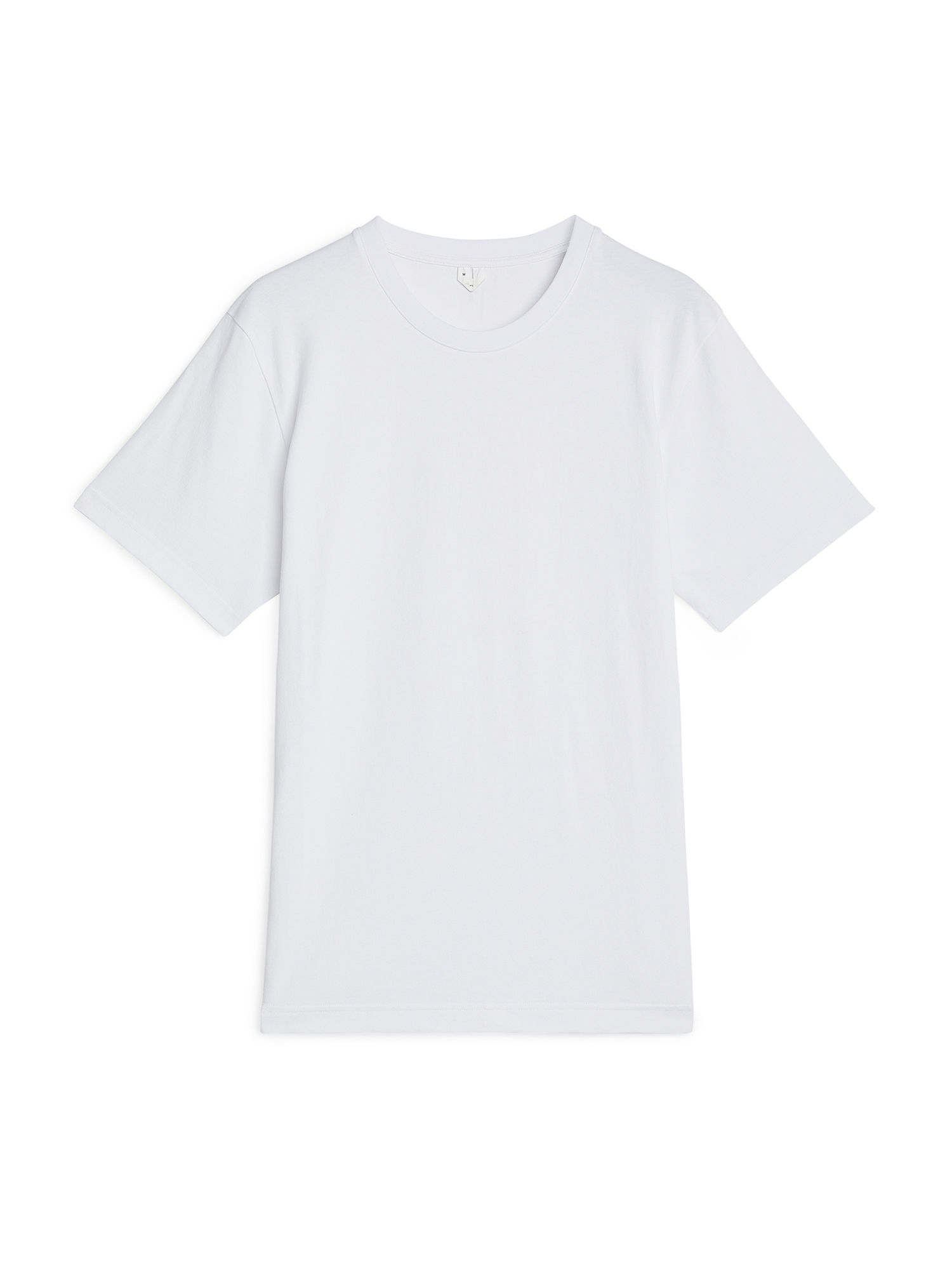 Fabric Swatch image of Arket 220 gsm t-shirt in white