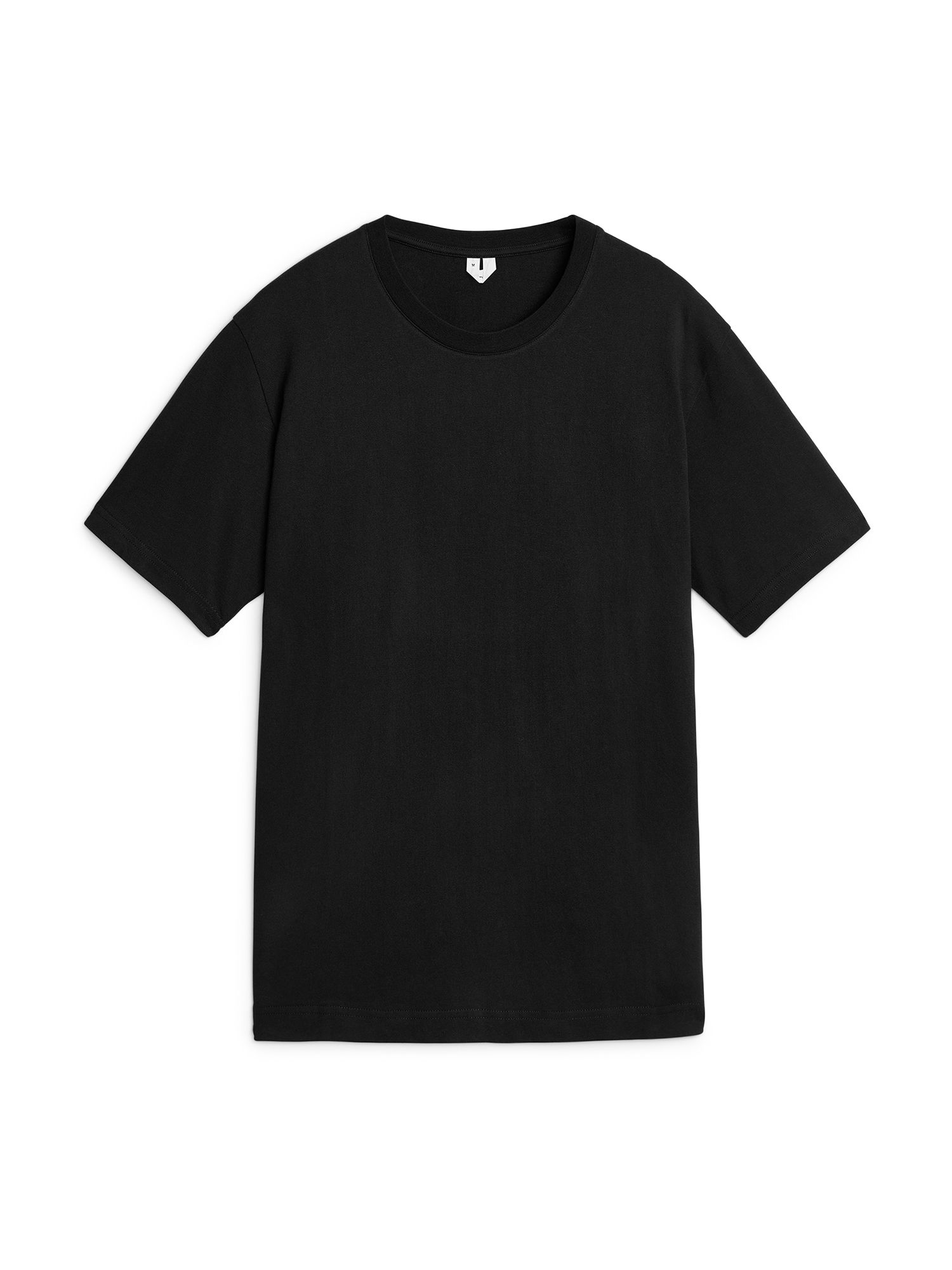 Fabric Swatch image of Arket 220 gsm t-shirt in black