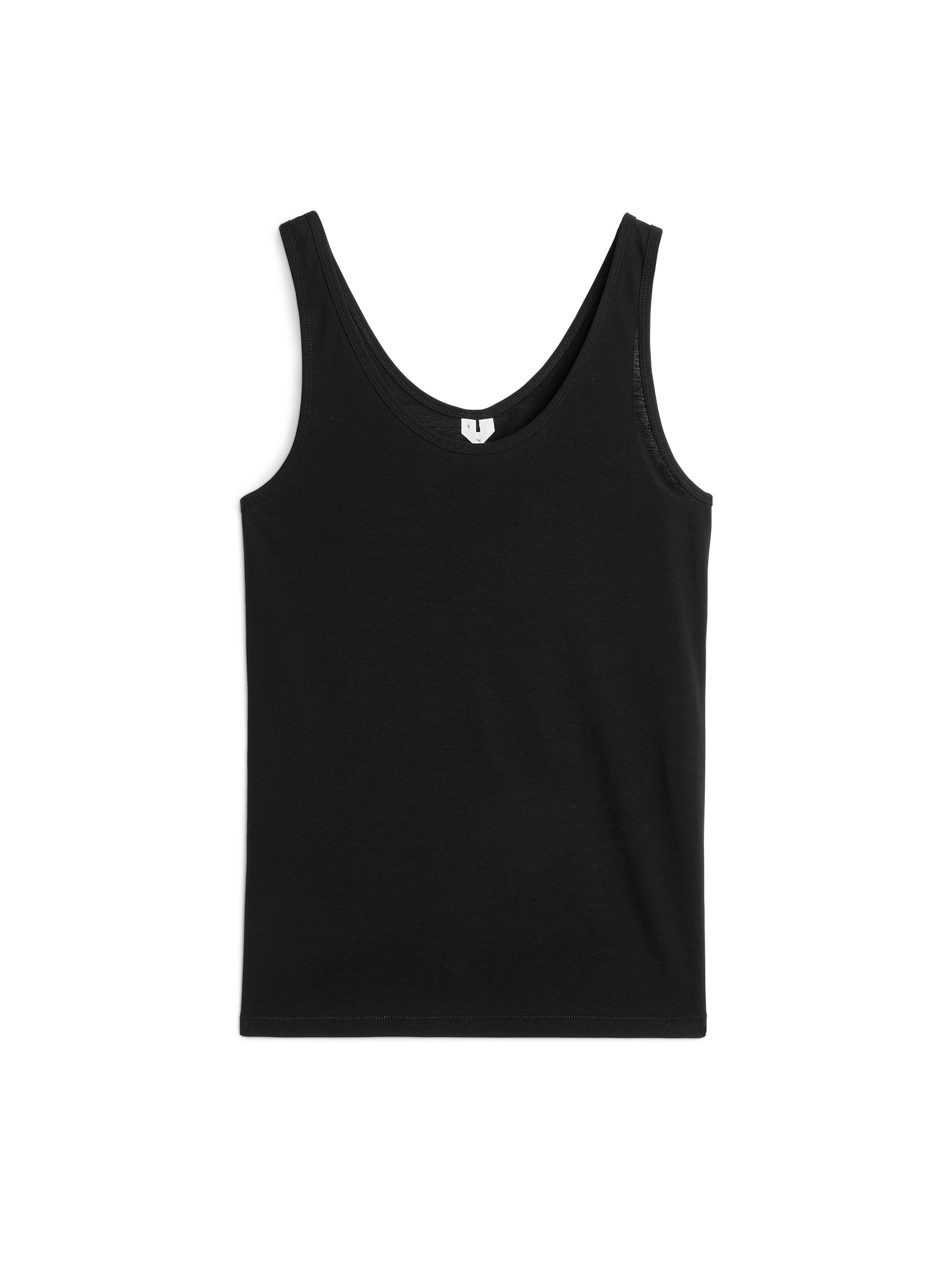 Fabric Swatch image of Arket pima cotton tank top in black