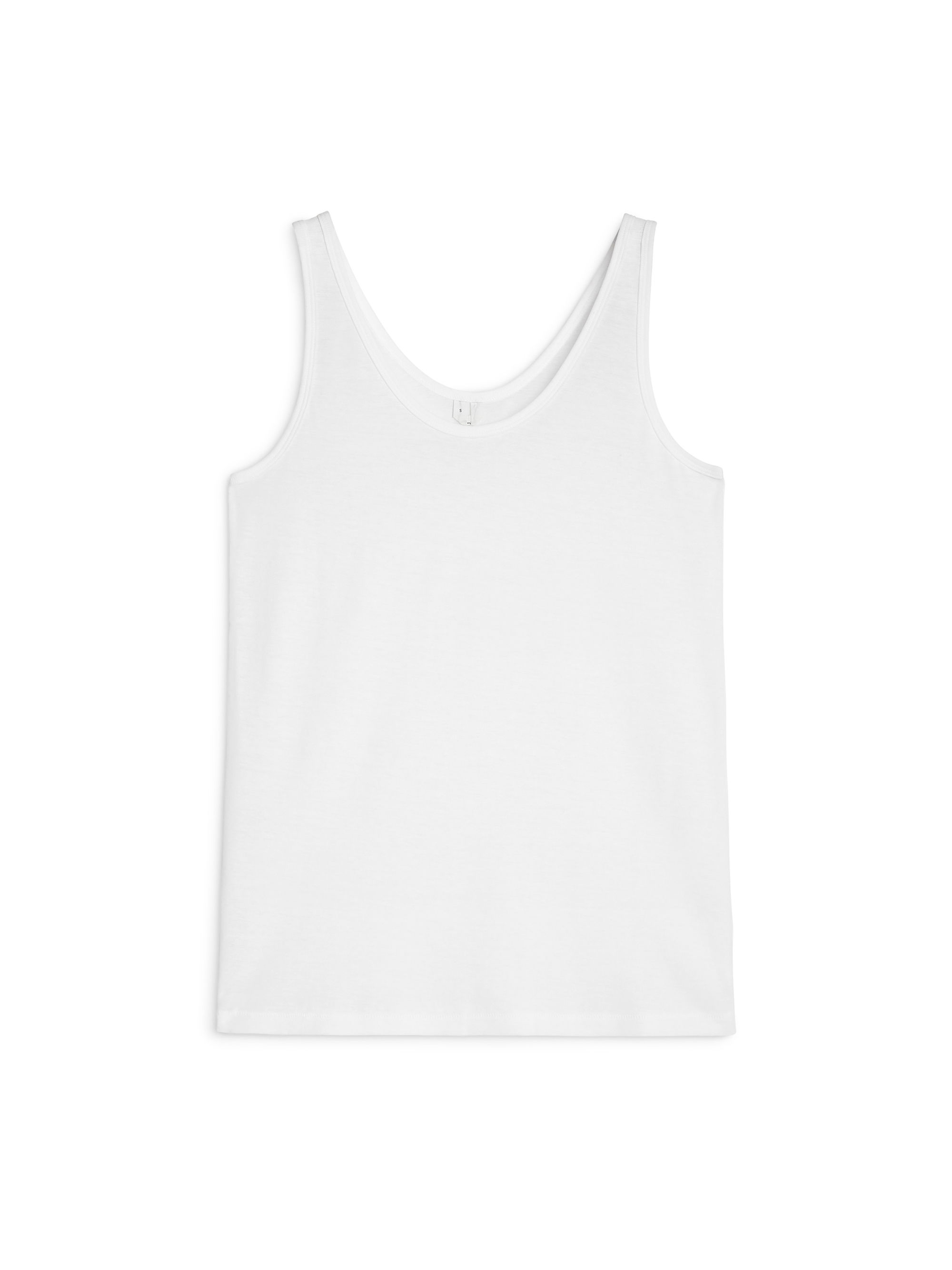 Fabric Swatch image of Arket pima cotton tank top in white