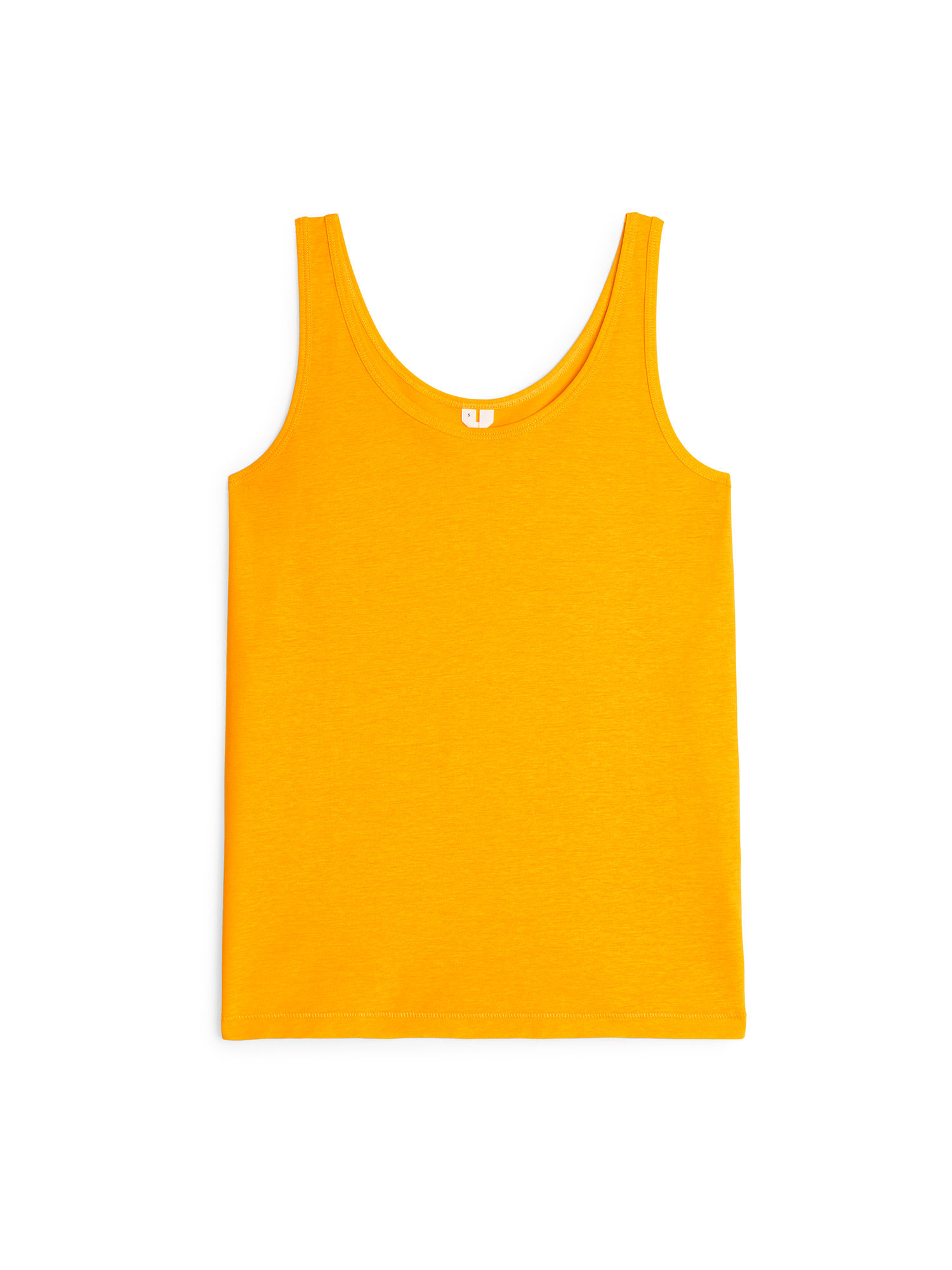 Fabric Swatch image of Arket pima cotton tank top in yellow