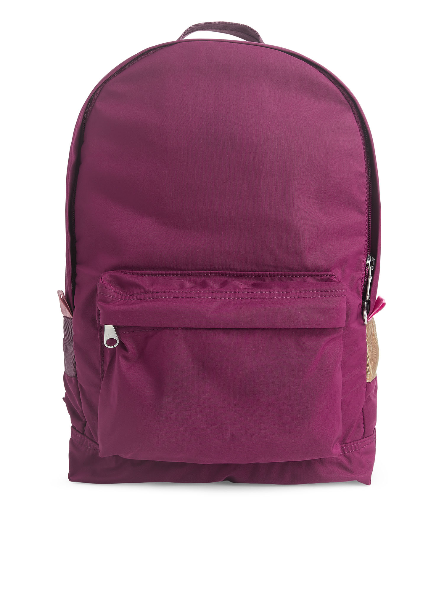 Fabric Swatch image of Arket water-repellent backpack in pink