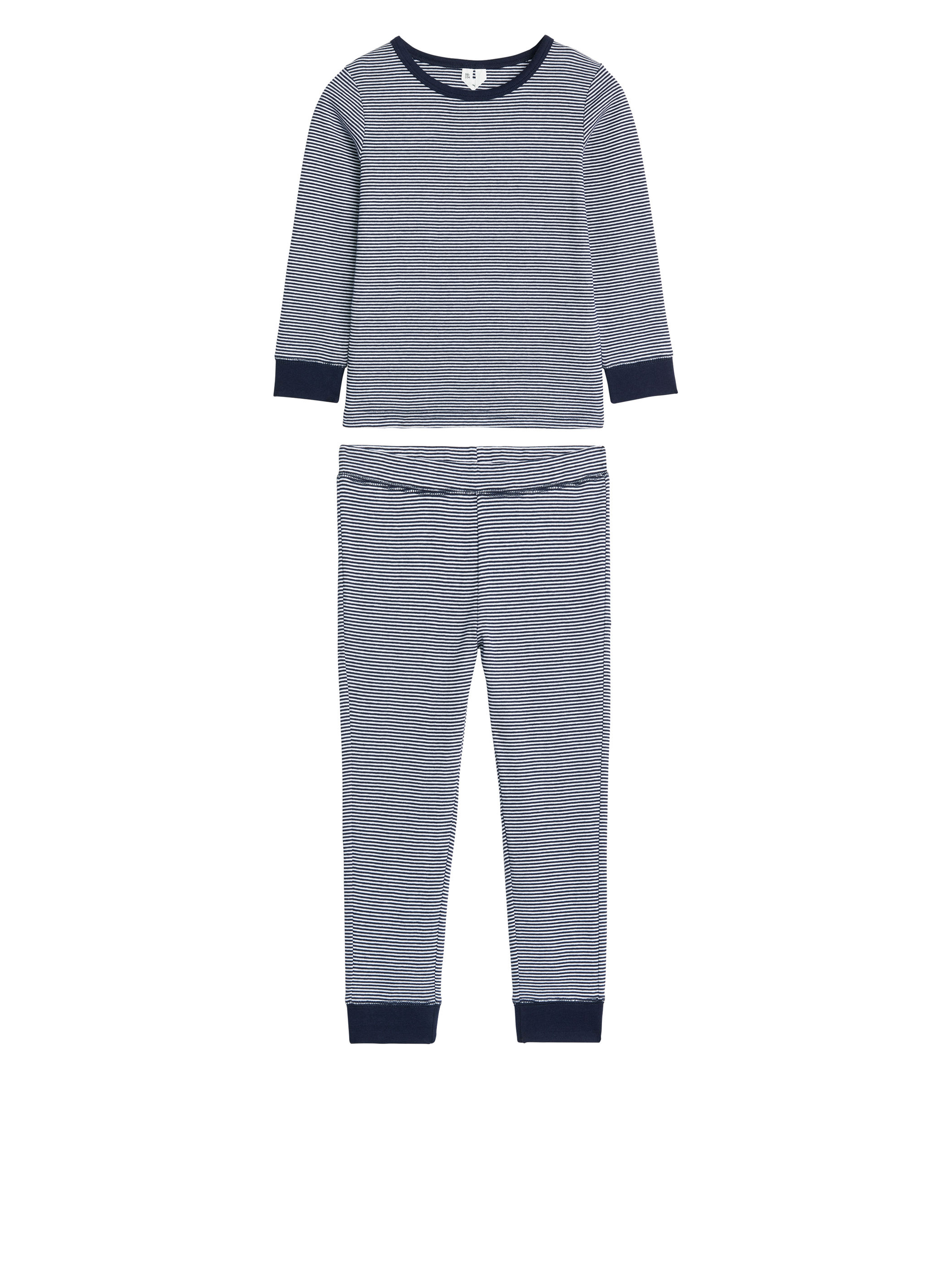 Fabric Swatch image of Arket cotton jersey pyjama set in blue