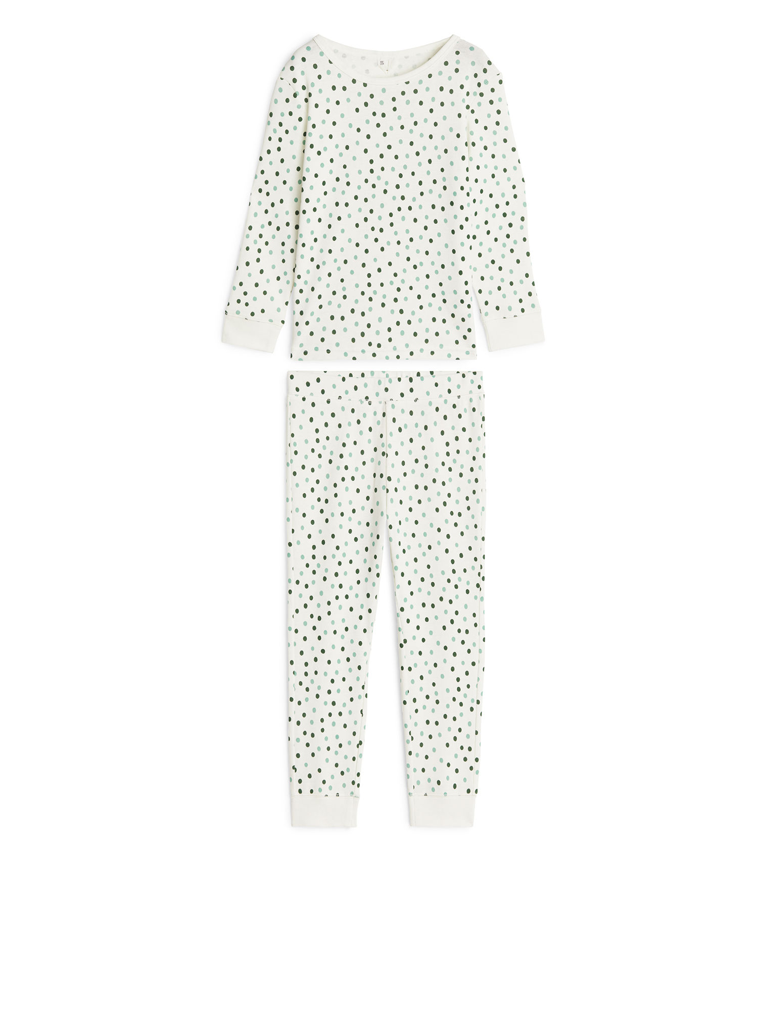 Fabric Swatch image of Arket cotton jersey pyjama set in white