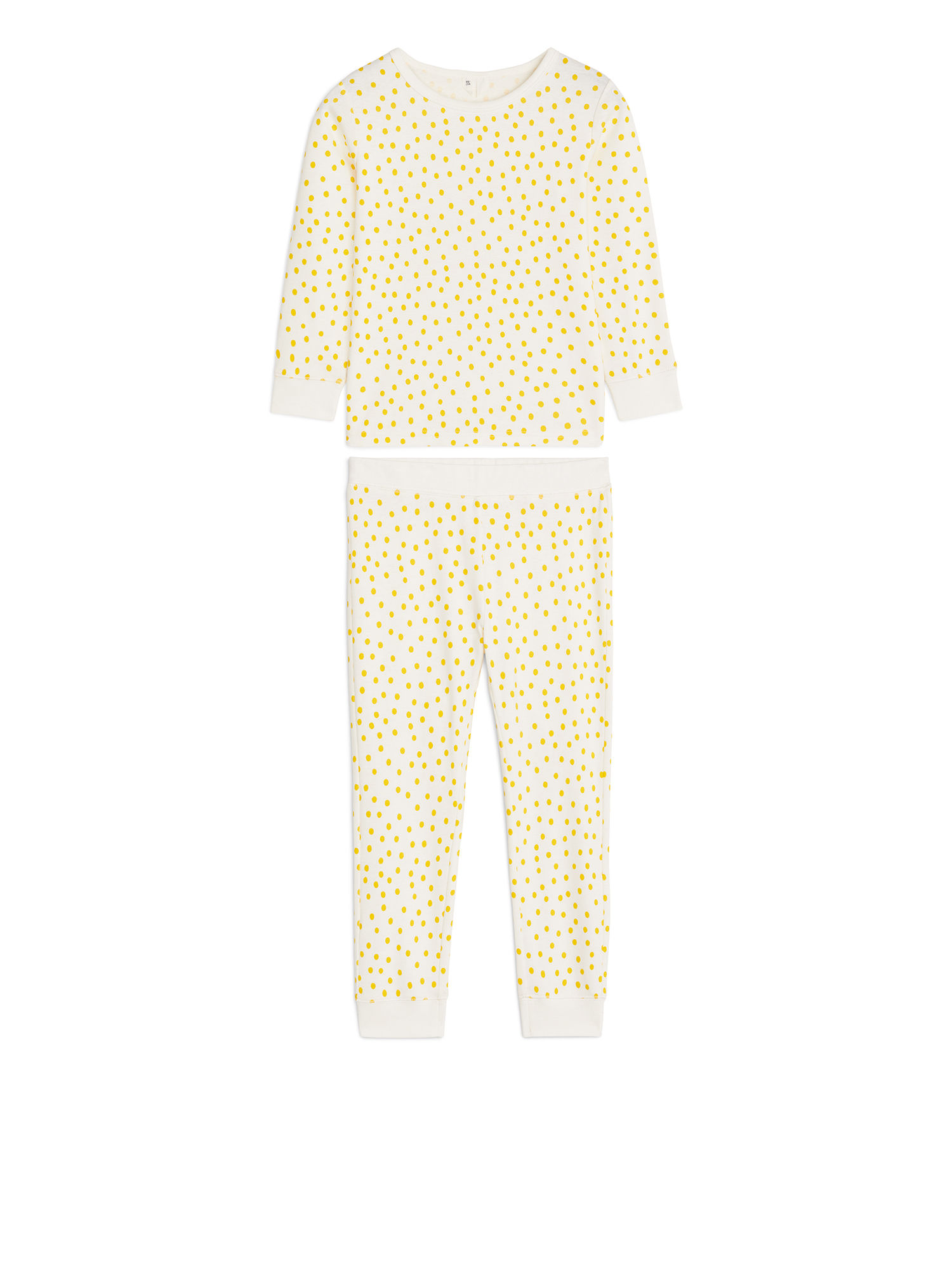 Fabric Swatch image of Arket cotton jersey pyjama set in yellow