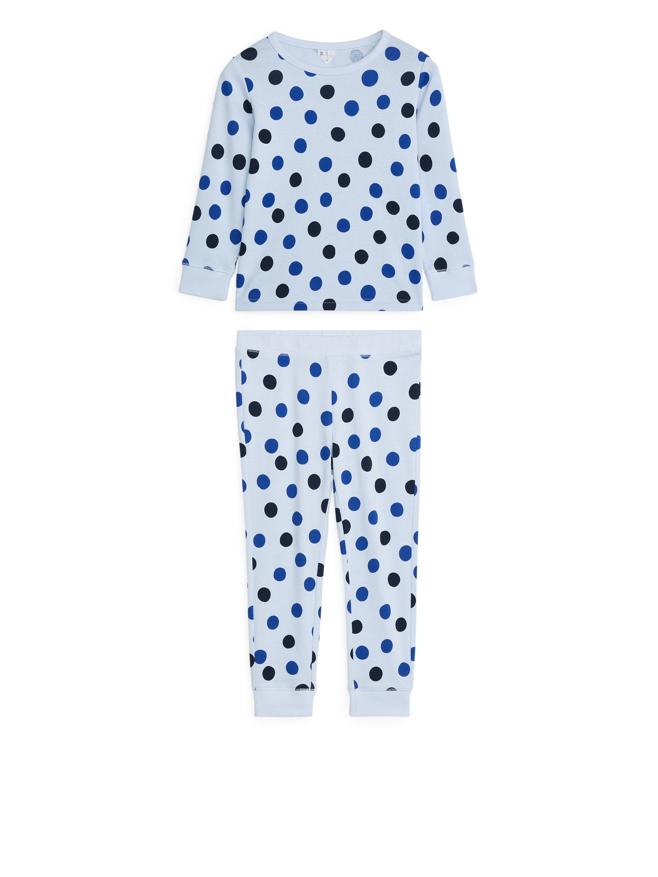 Fabric Swatch image of Arket jersey pyjama set in blue