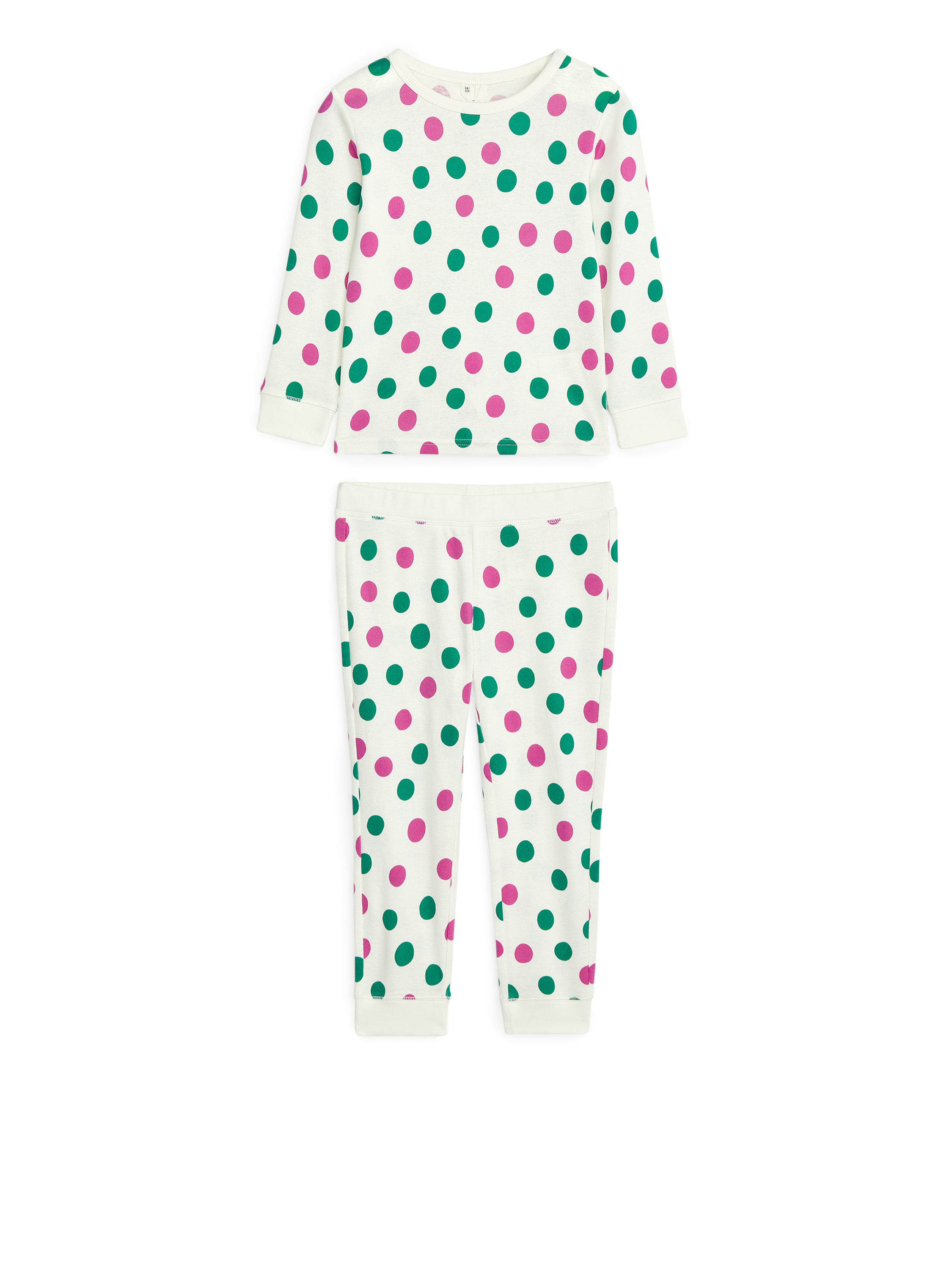 Fabric Swatch image of Arket jersey pyjama set in white