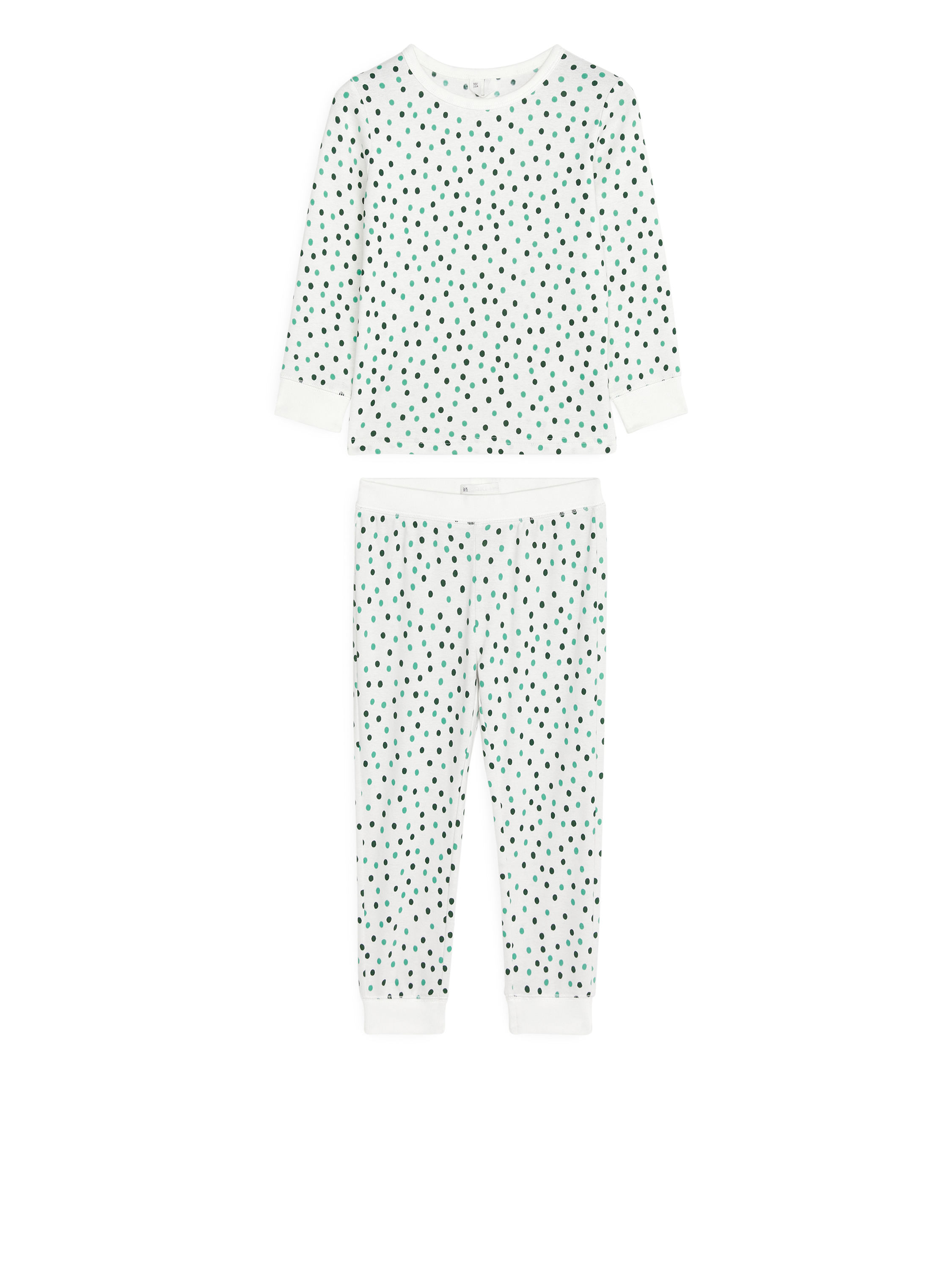 Fabric Swatch image of Arket jersey pyjama set in green