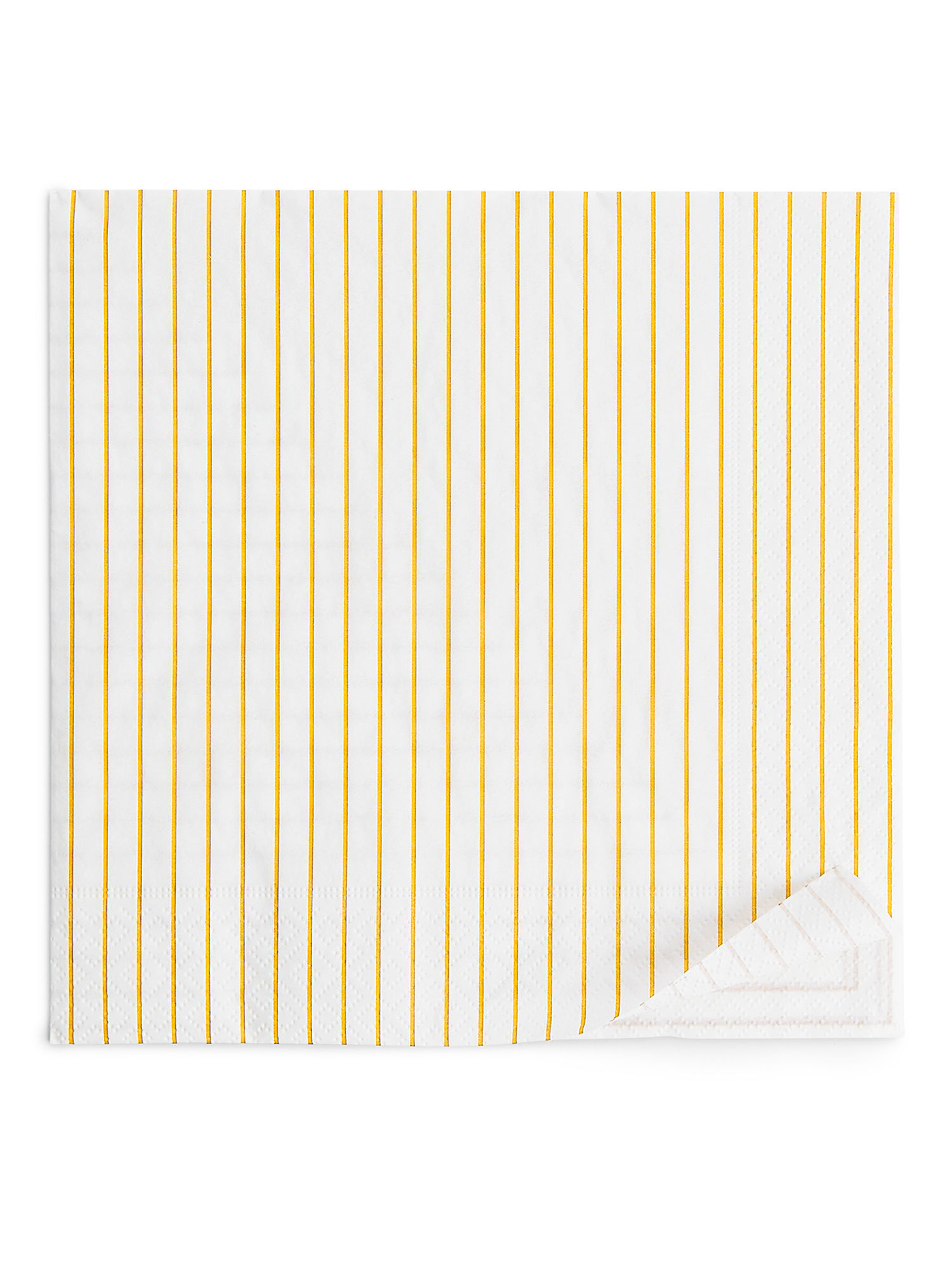 Fabric Swatch image of Arket paper napkins in yellow
