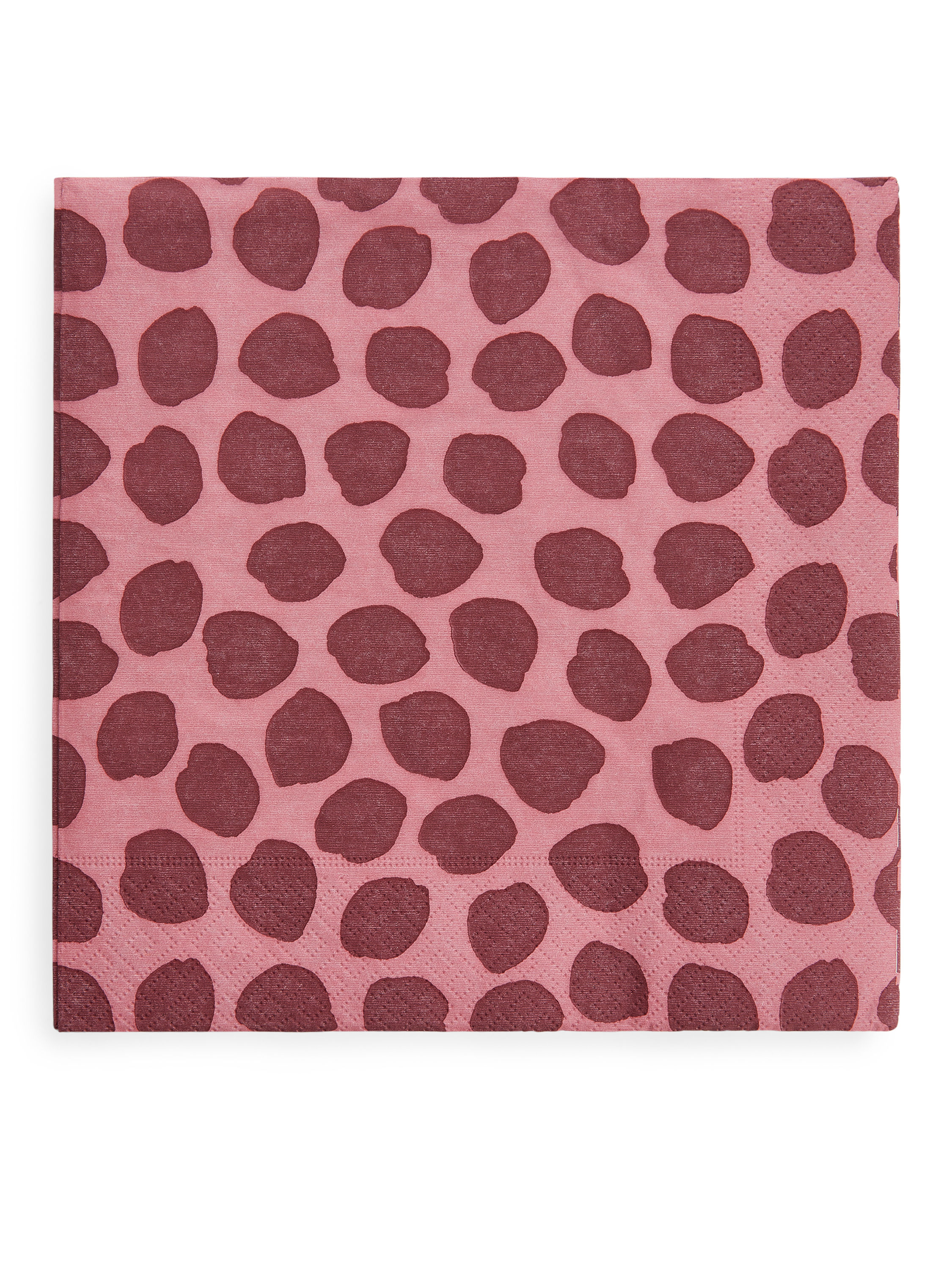 Fabric Swatch image of Arket paper napkins in pink