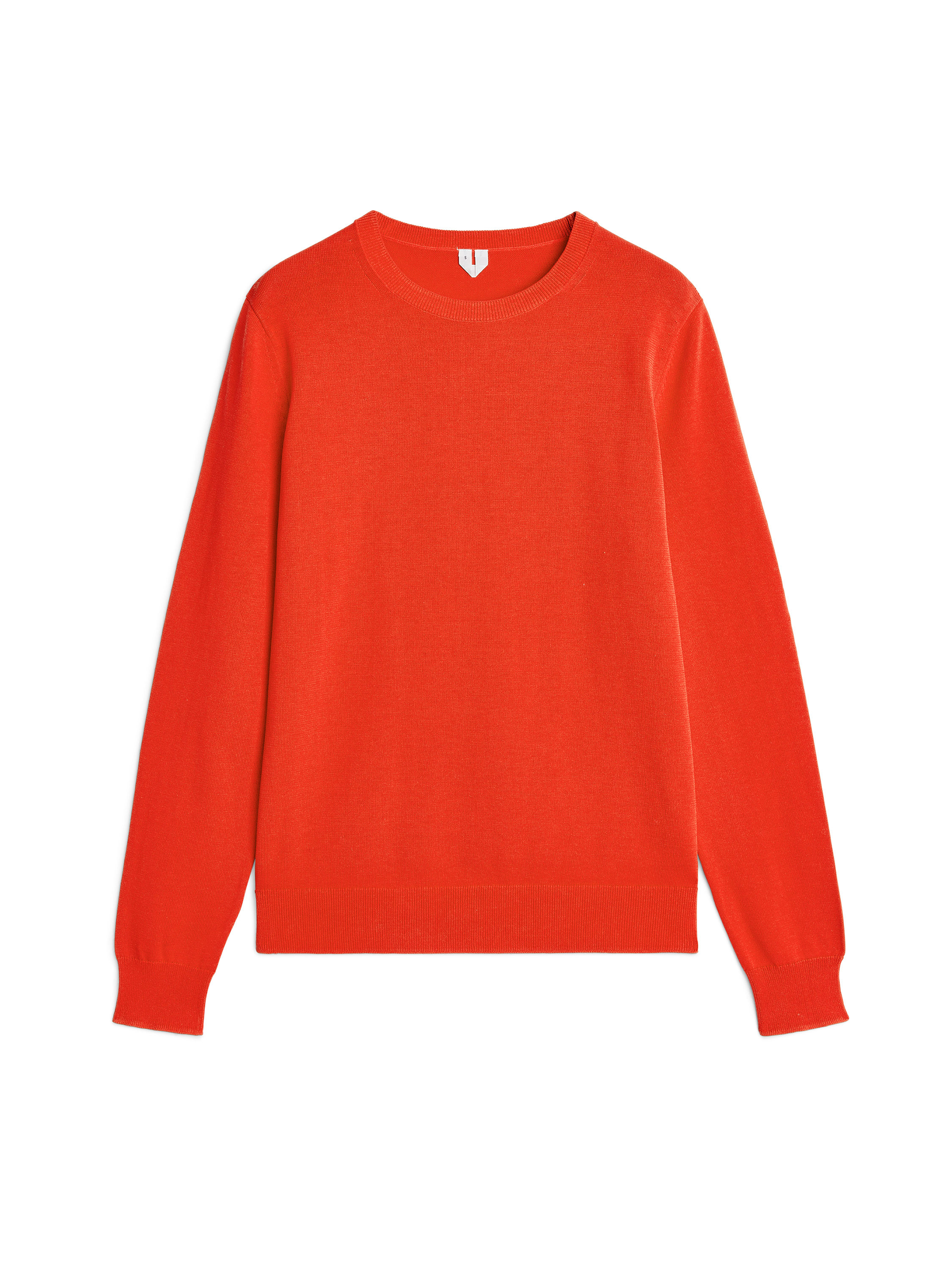 Fabric Swatch image of Arket pima cotton crew-neck jumper in orange