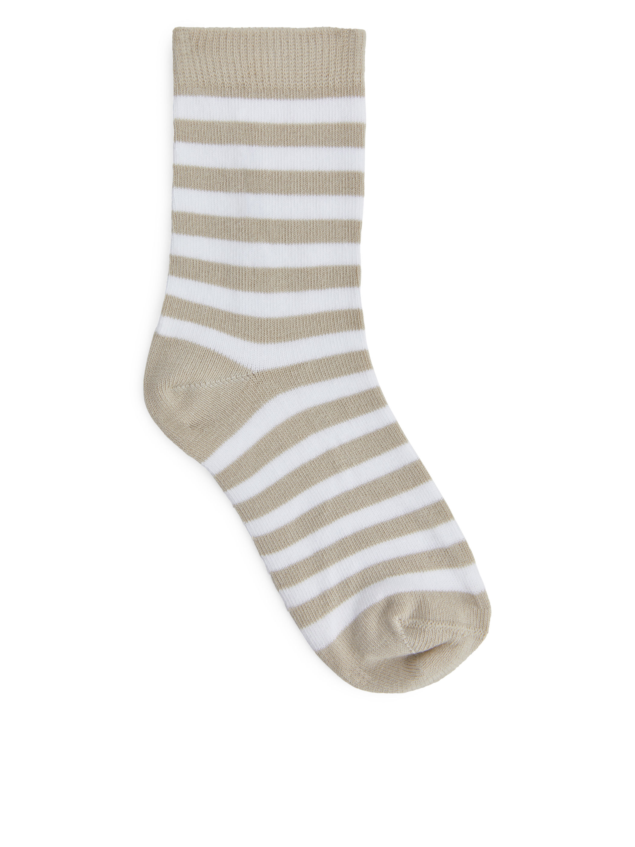 Fabric Swatch image of Arket striped socks, 2-pack in beige