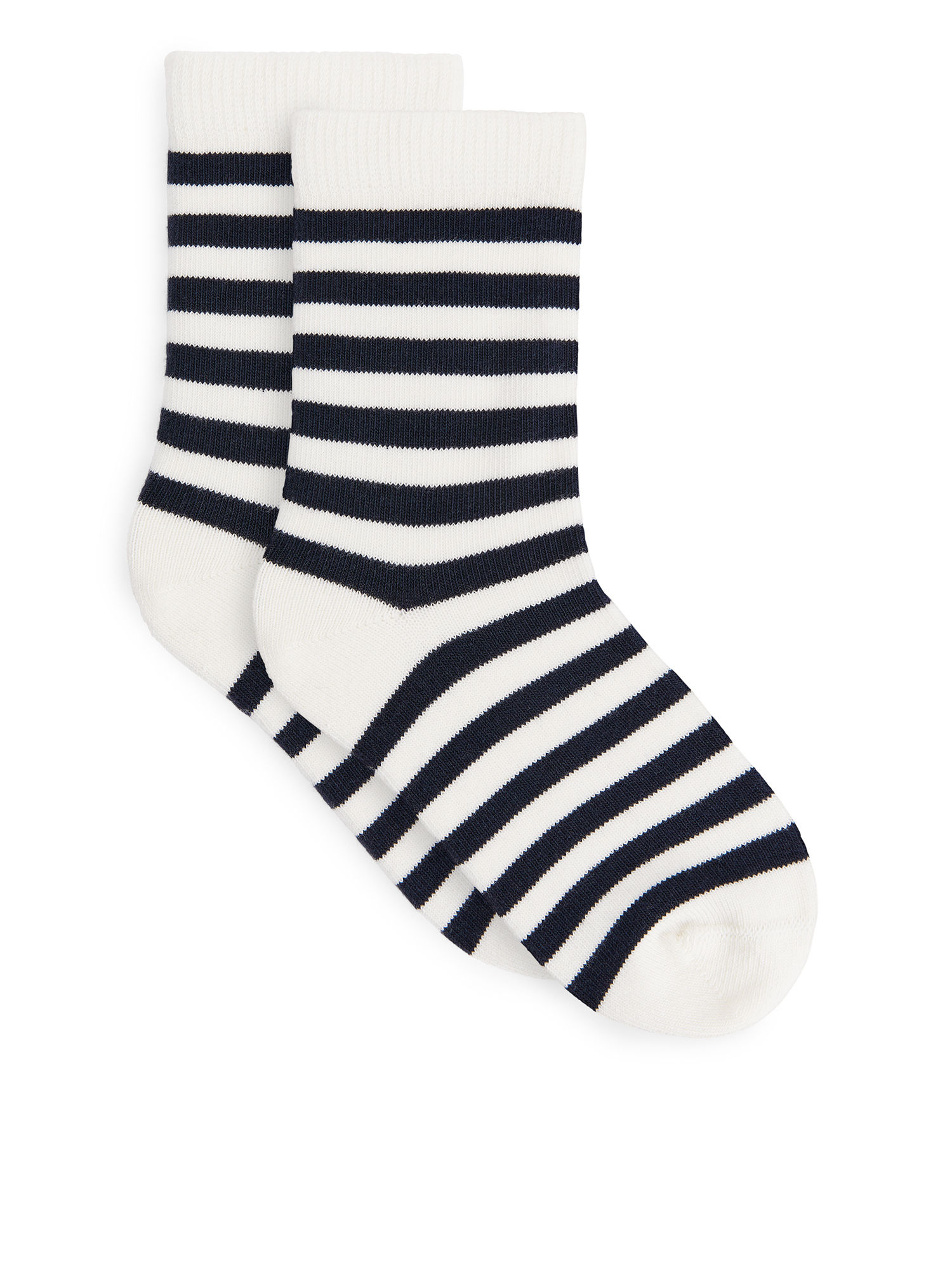 Fabric Swatch image of Arket striped socks, 2-pack in white