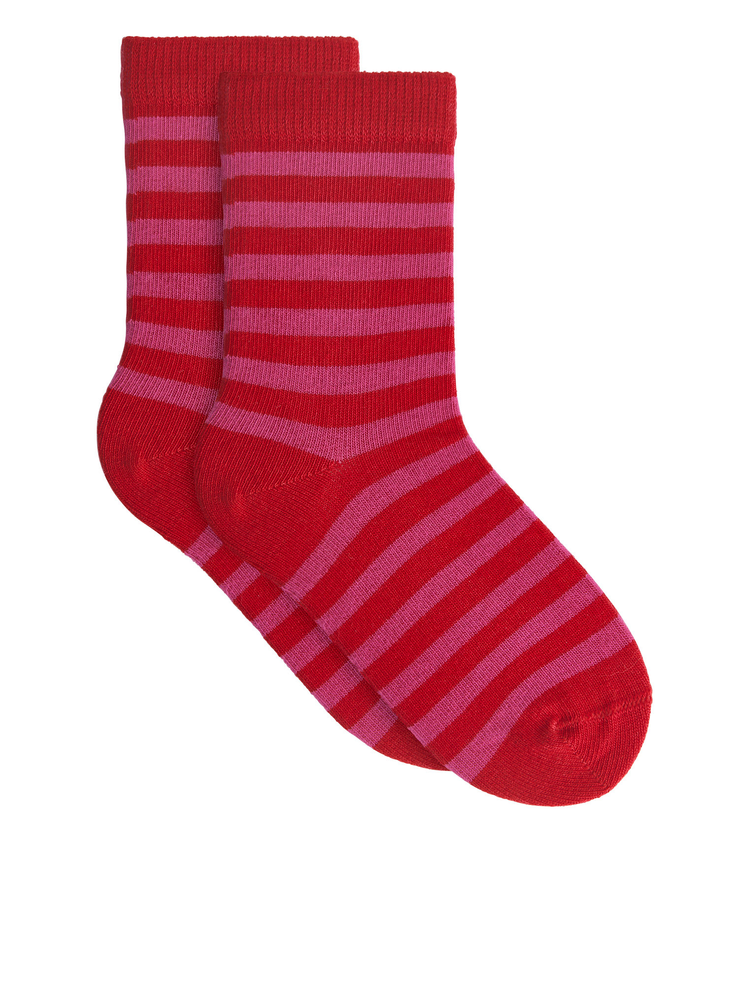 Fabric Swatch image of Arket striped socks, 2-pack in red