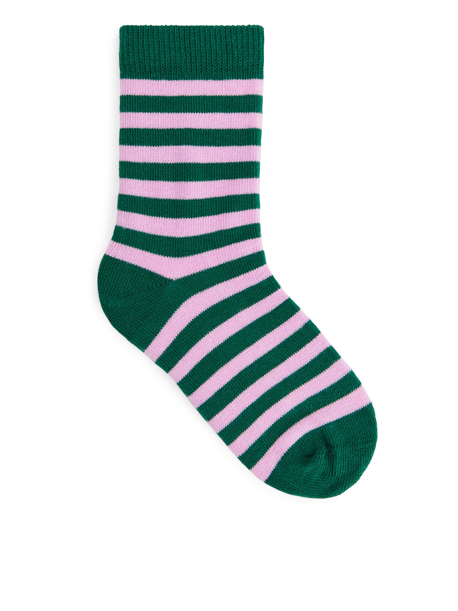 Fabric Swatch image of Arket striped socks, 2-pack in green