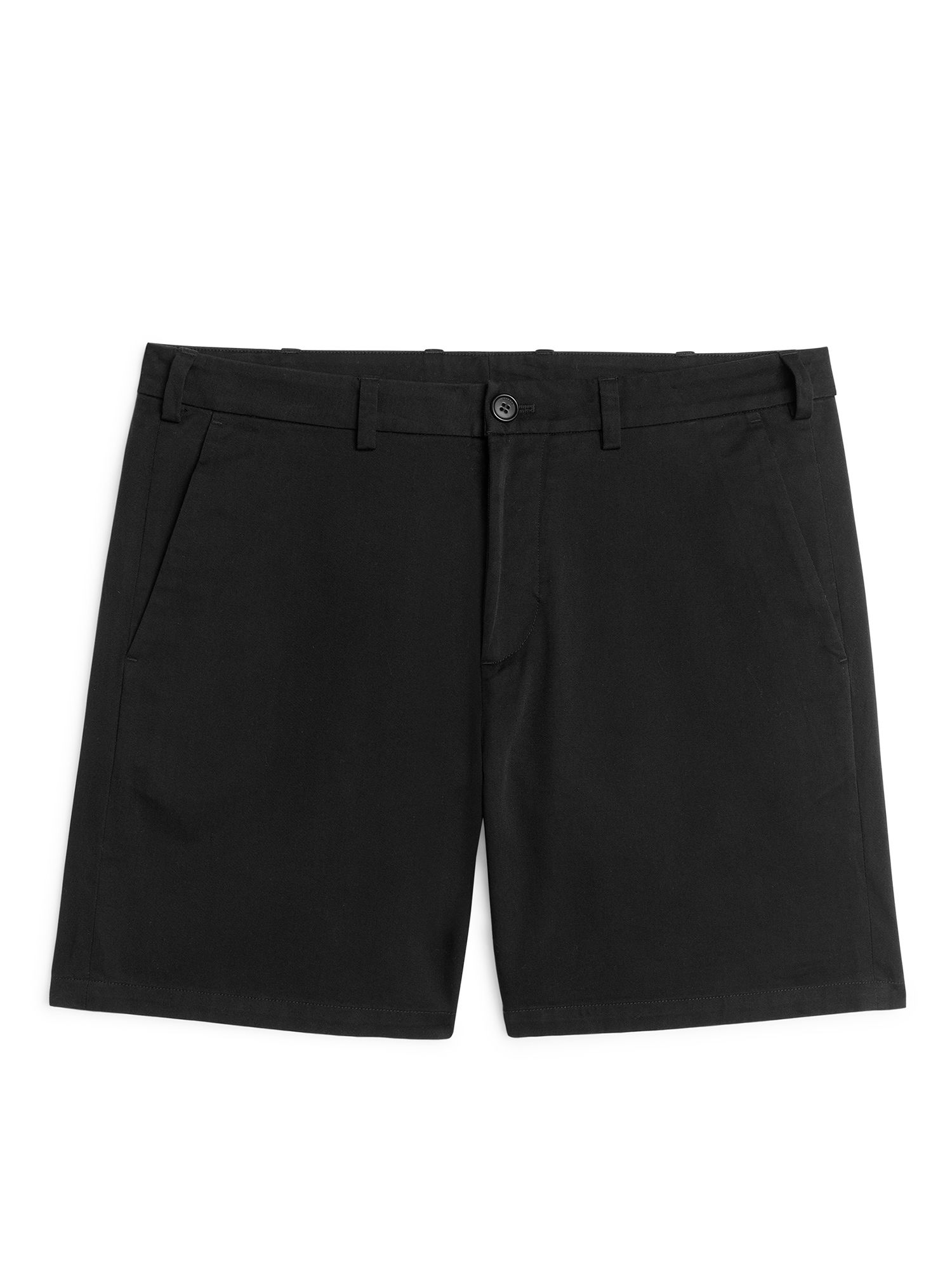 Fabric Swatch image of Arket organic cotton chino shorts in black