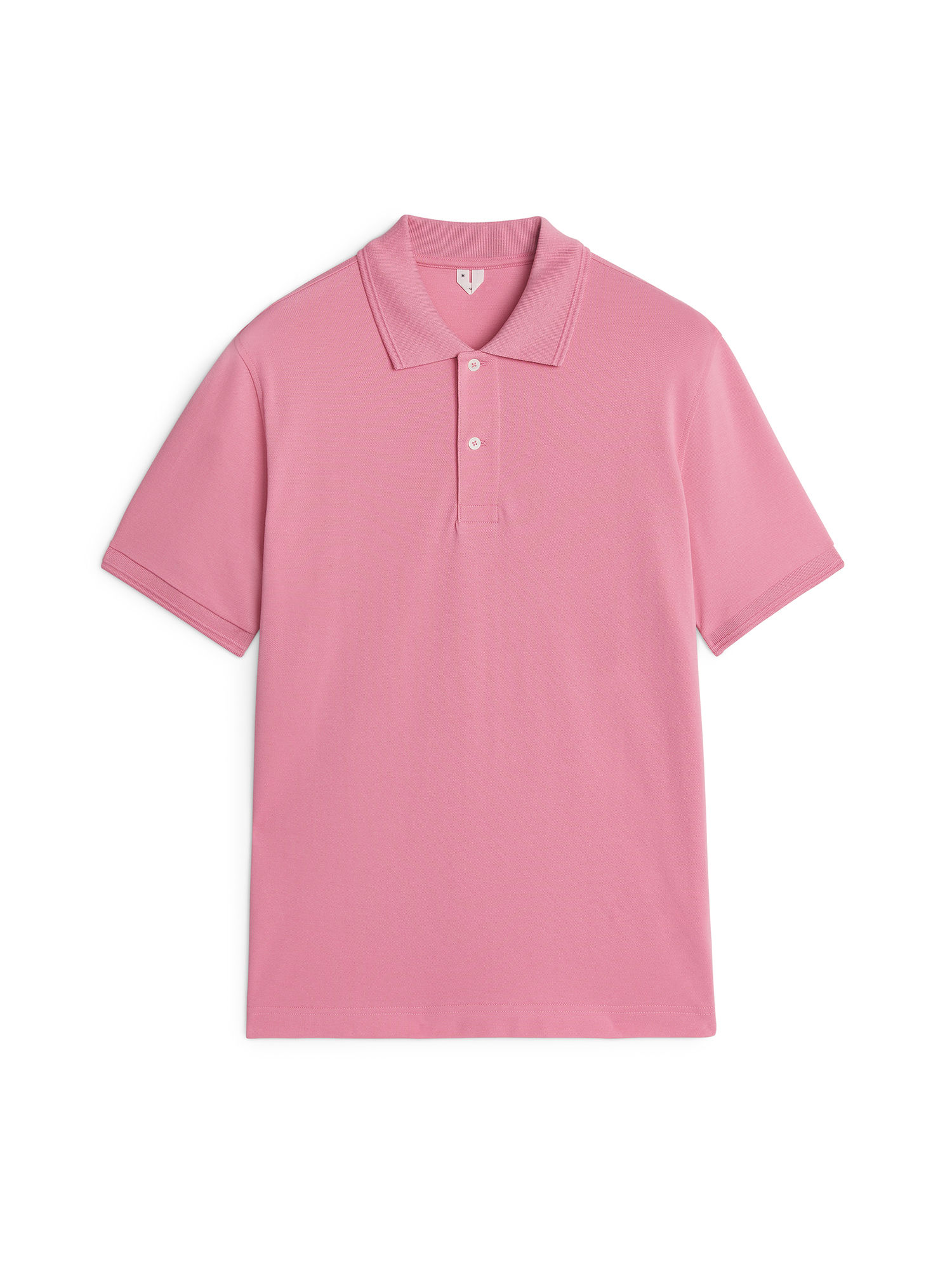 Fabric Swatch image of Arket piqué polo shirt in pink