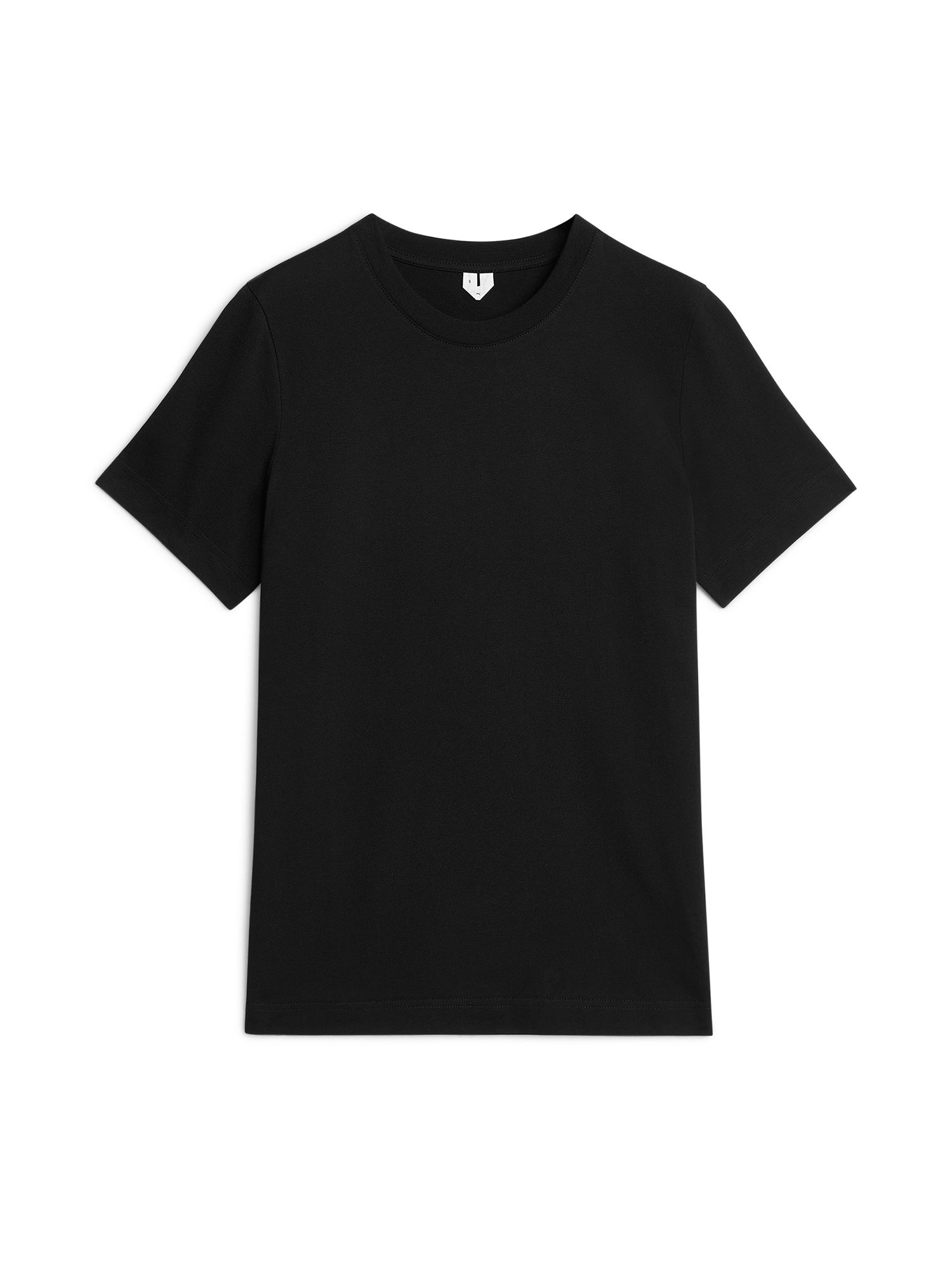 Fabric Swatch image of Arket crew-neck t-shirt in black
