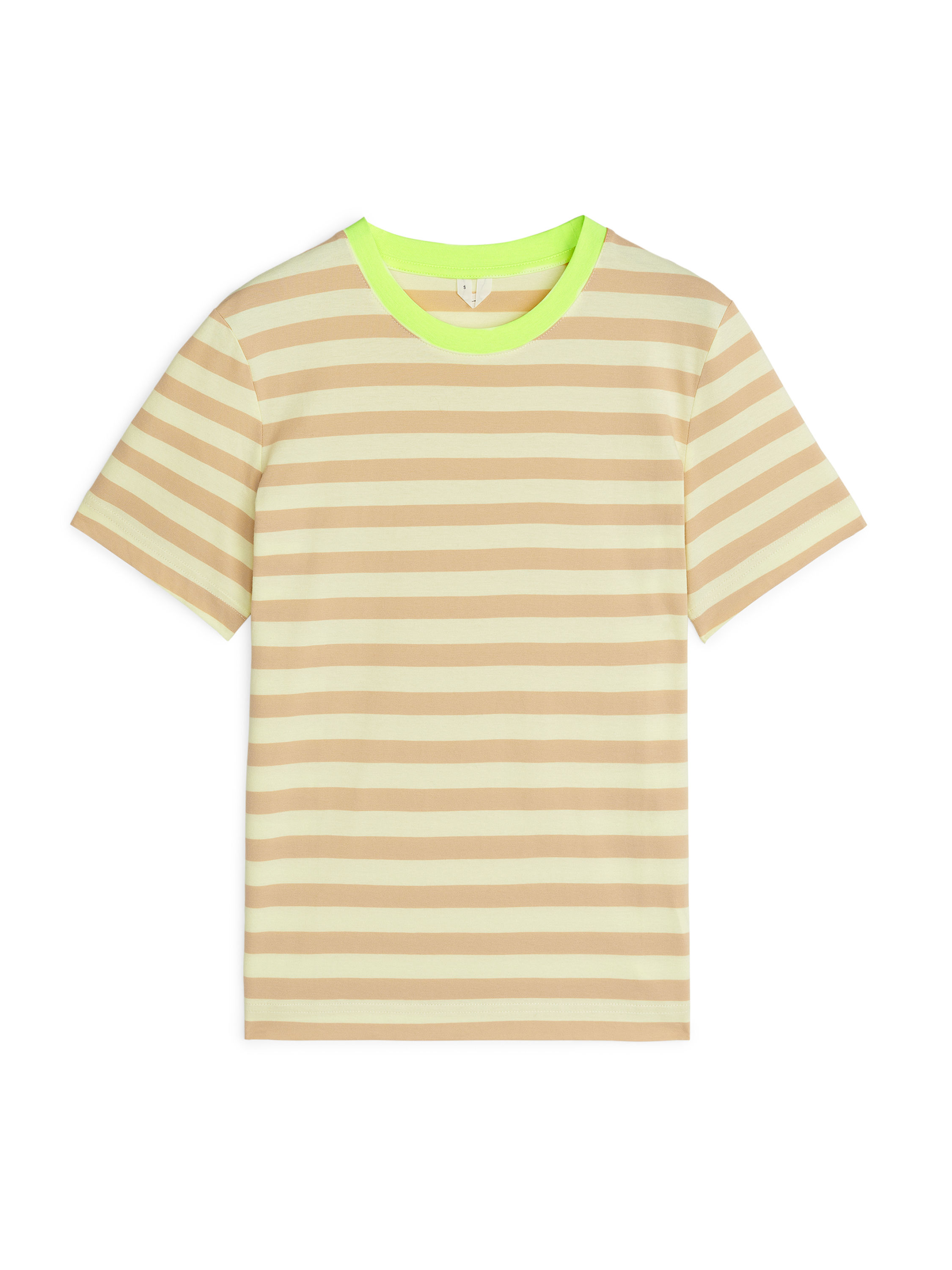 Fabric Swatch image of Arket crew-neck t-shirt in yellow