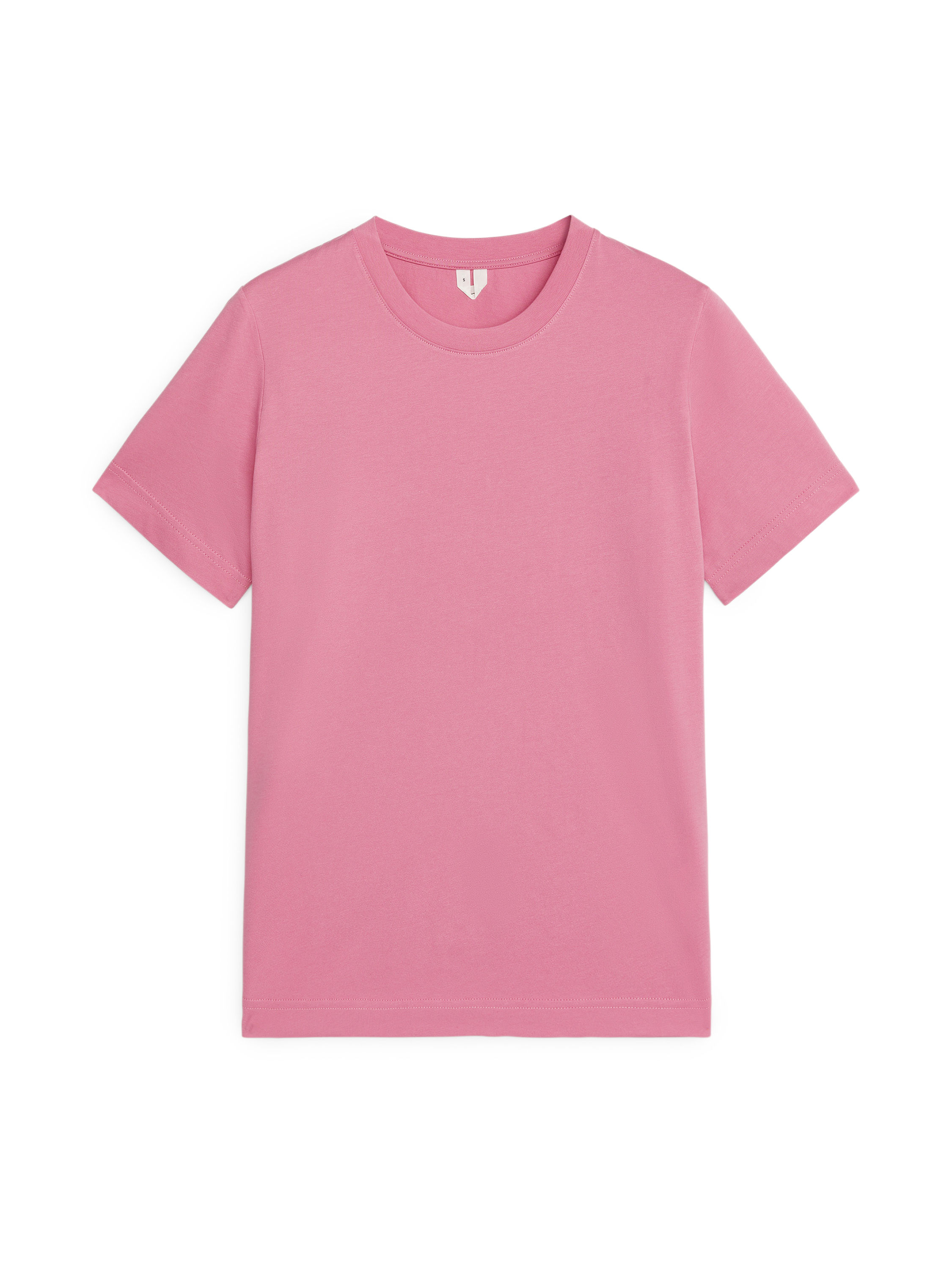 Fabric Swatch image of Arket crew-neck t-shirt in pink