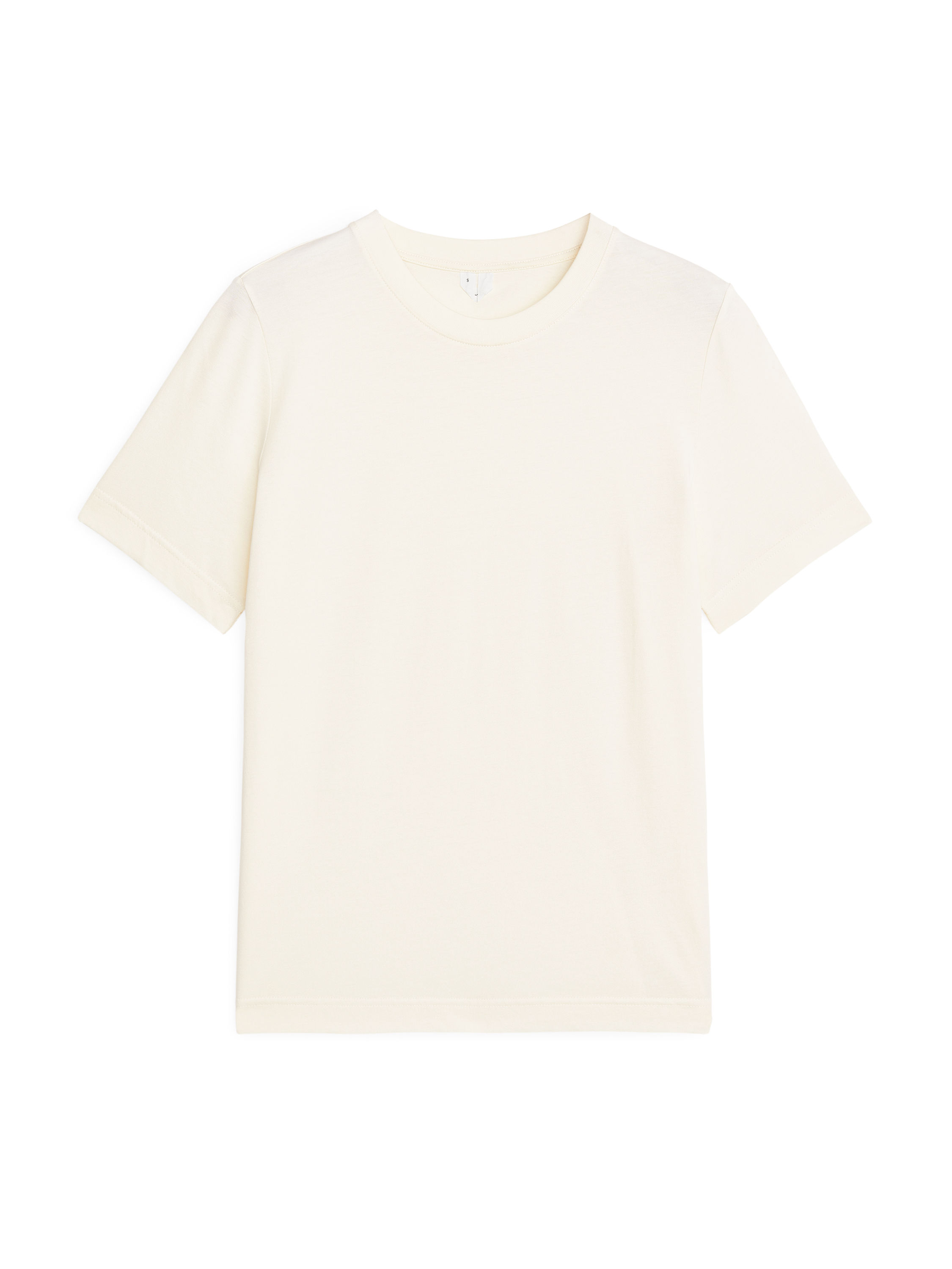 Fabric Swatch image of Arket crew-neck t-shirt in white