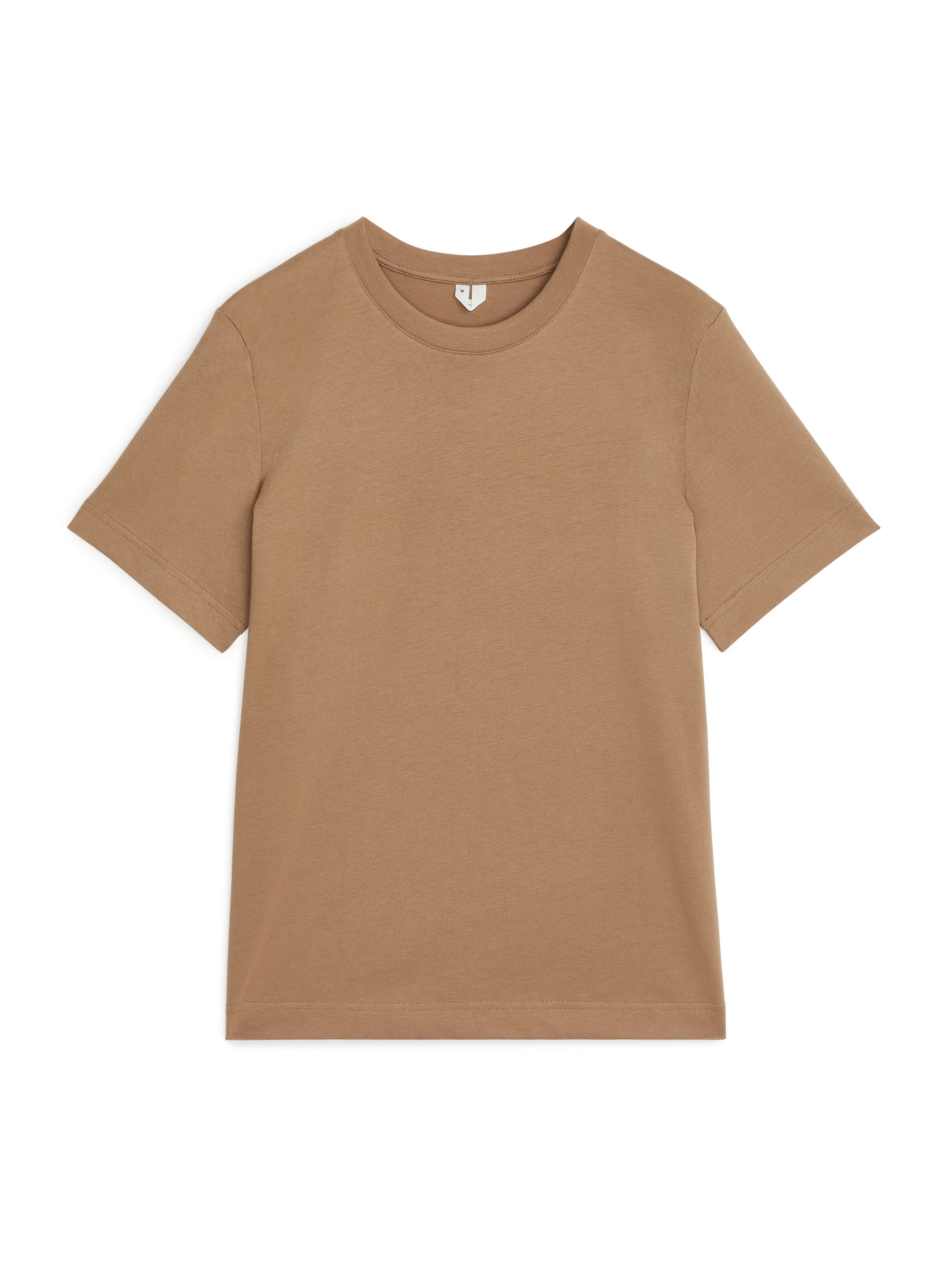 Fabric Swatch image of Arket crew-neck t-shirt in beige