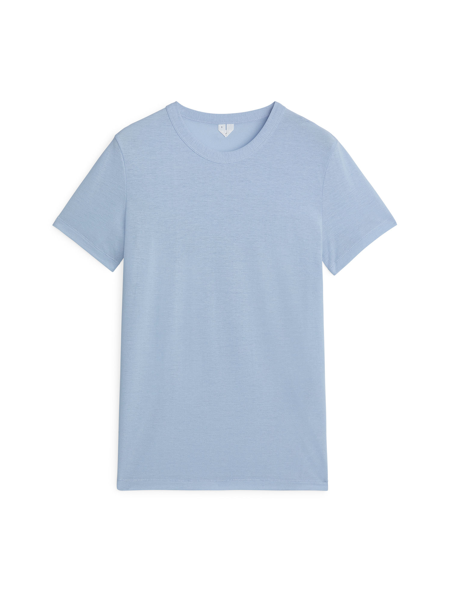 Fabric Swatch image of Arket ice crepe t-shirt in blue