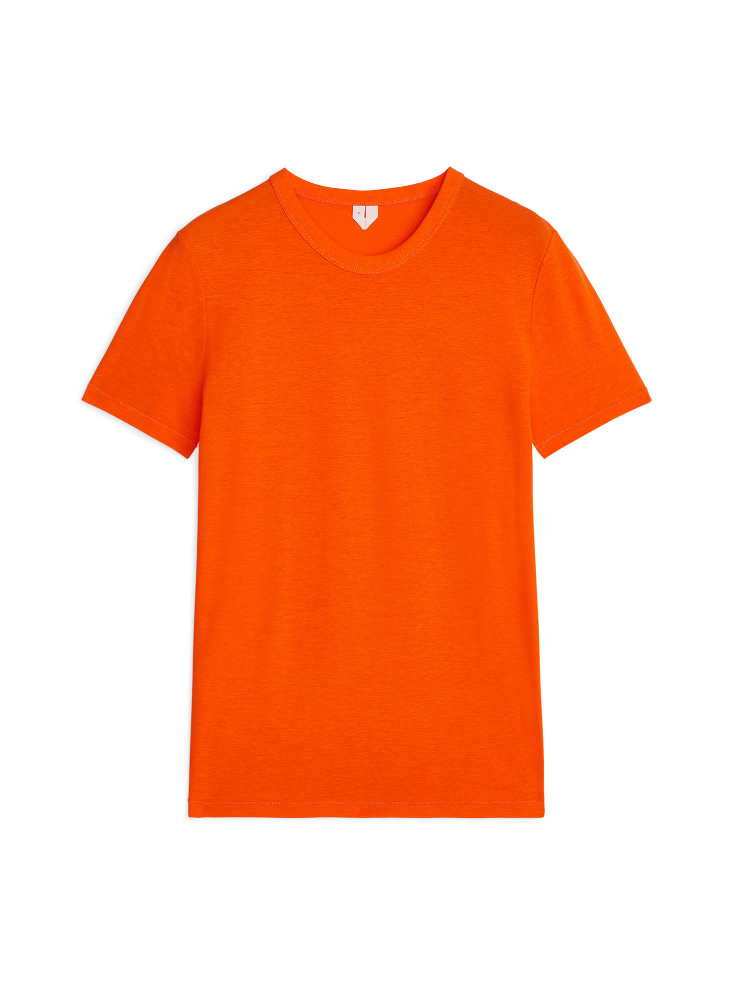 Fabric Swatch image of Arket ice crepe t-shirt in orange
