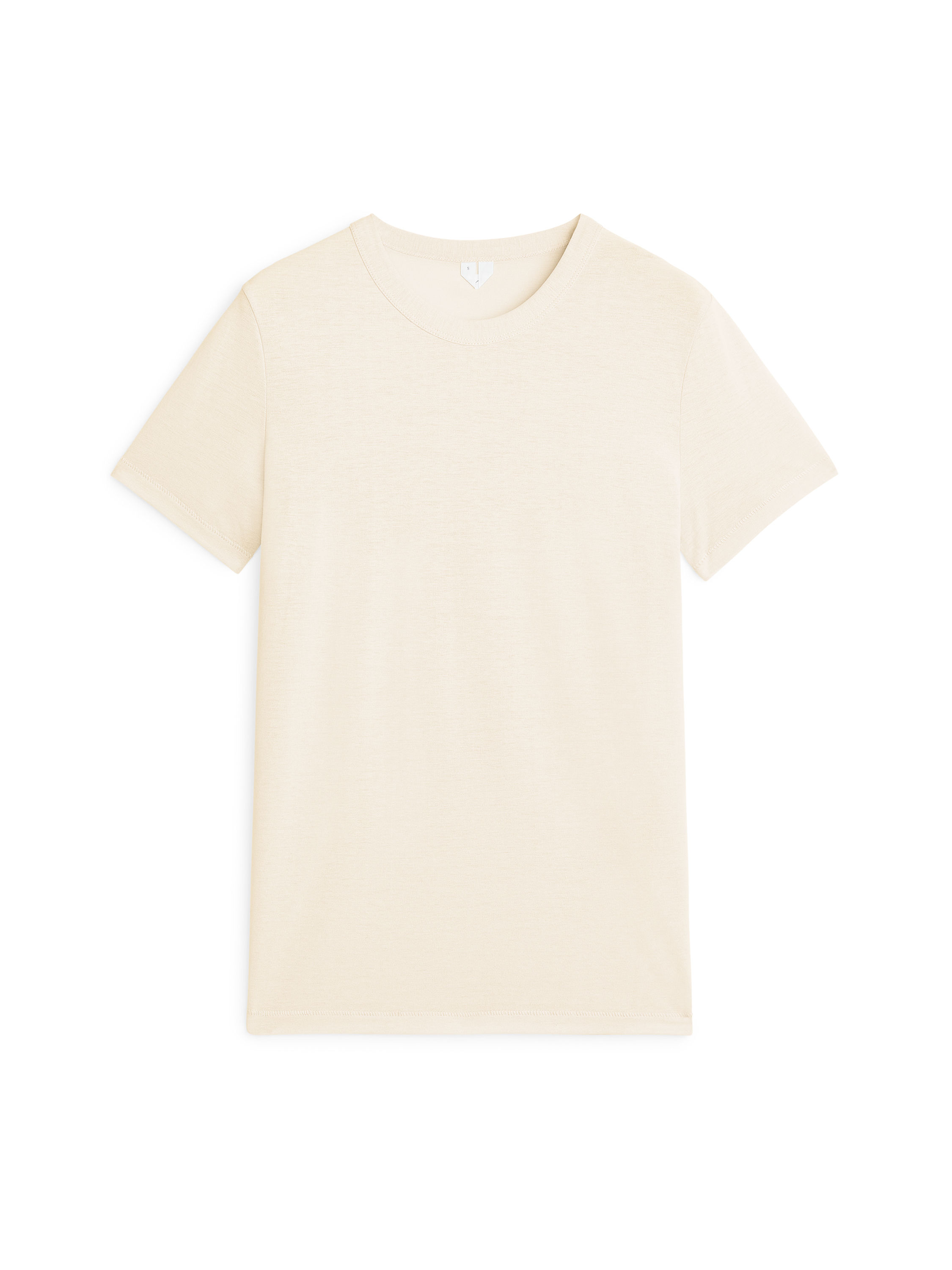Fabric Swatch image of Arket ice crepe t-shirt in white