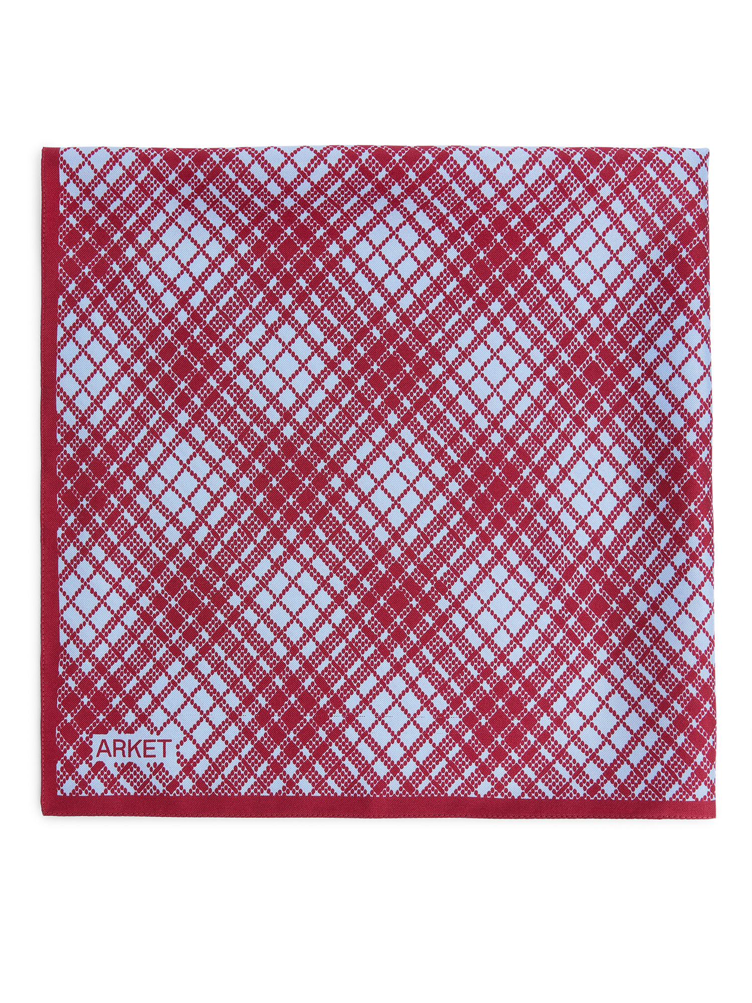 Fabric Swatch image of Arket printed silk scarf in red