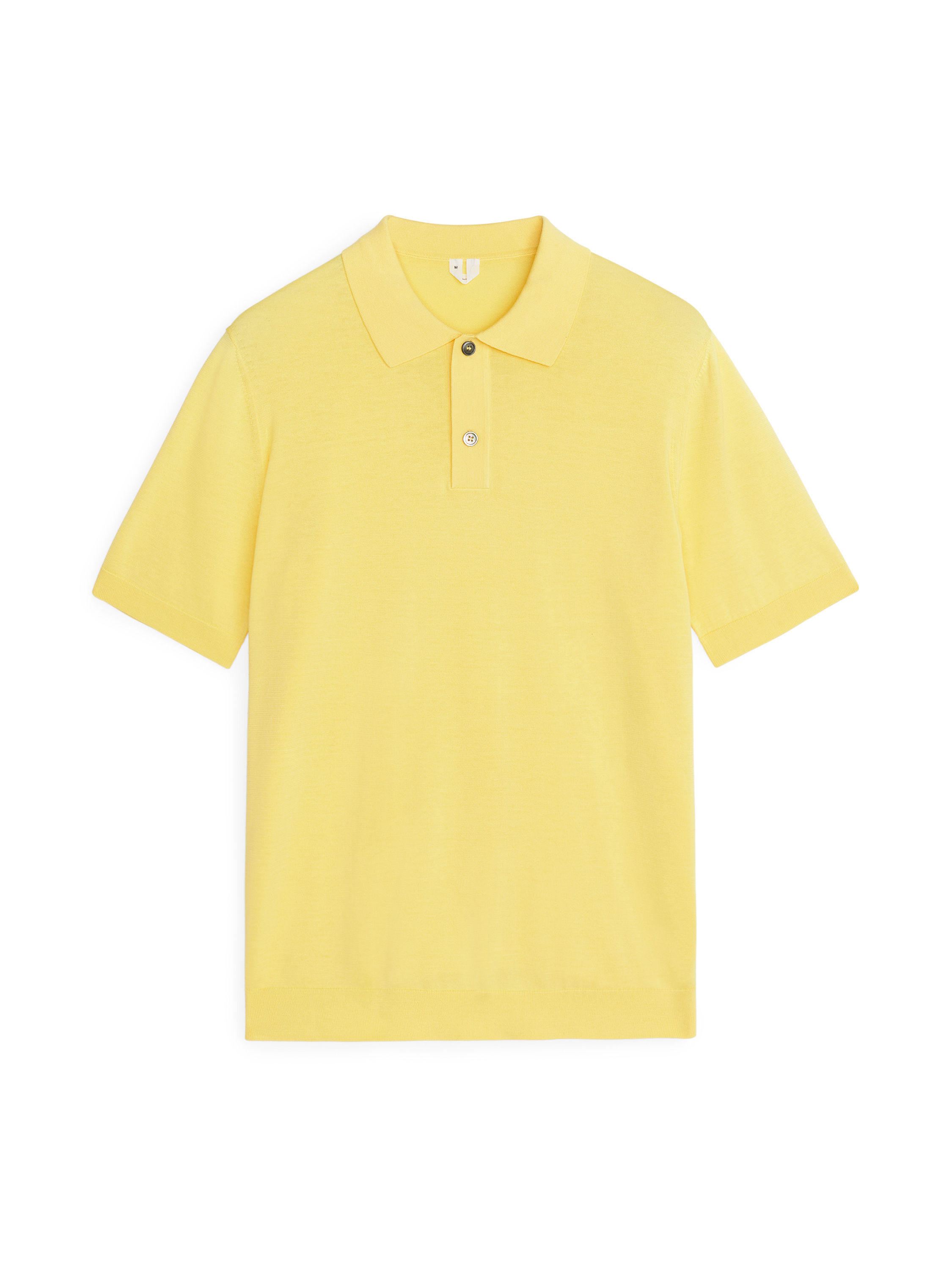 Fabric Swatch image of Arket cotton silk polo shirt in yellow
