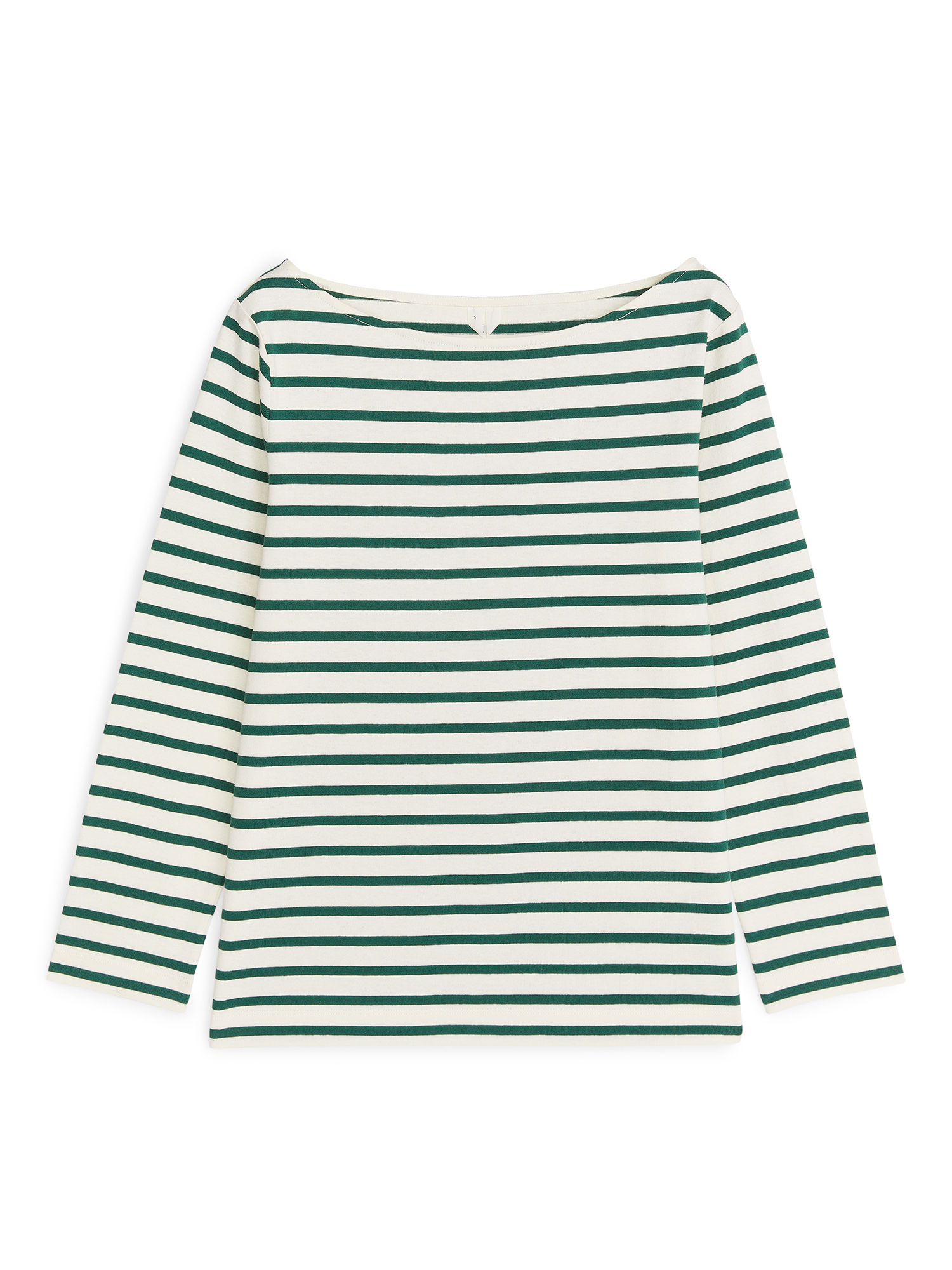Fabric Swatch image of Arket striped cotton top in green