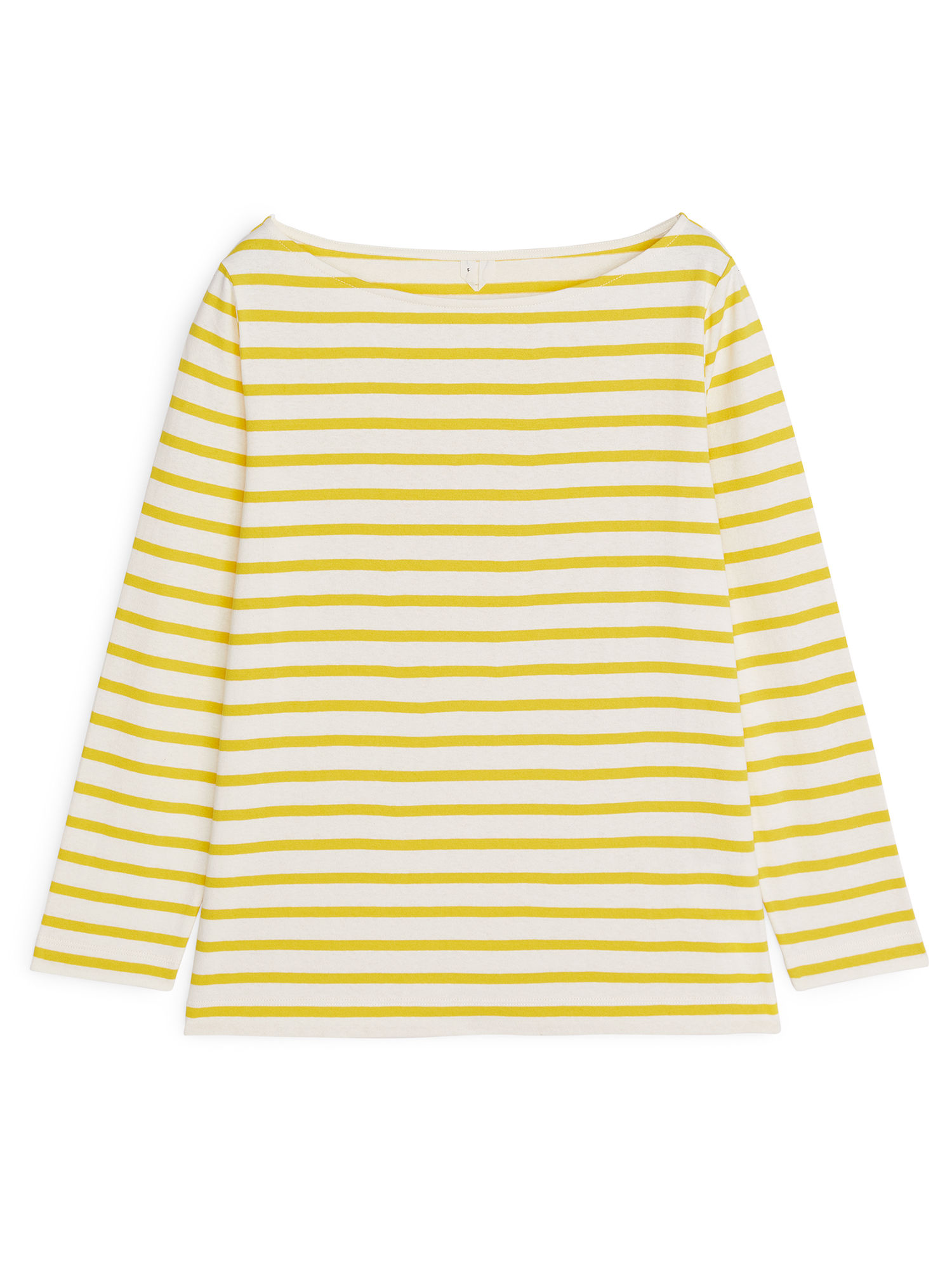 Fabric Swatch image of Arket striped cotton top in yellow