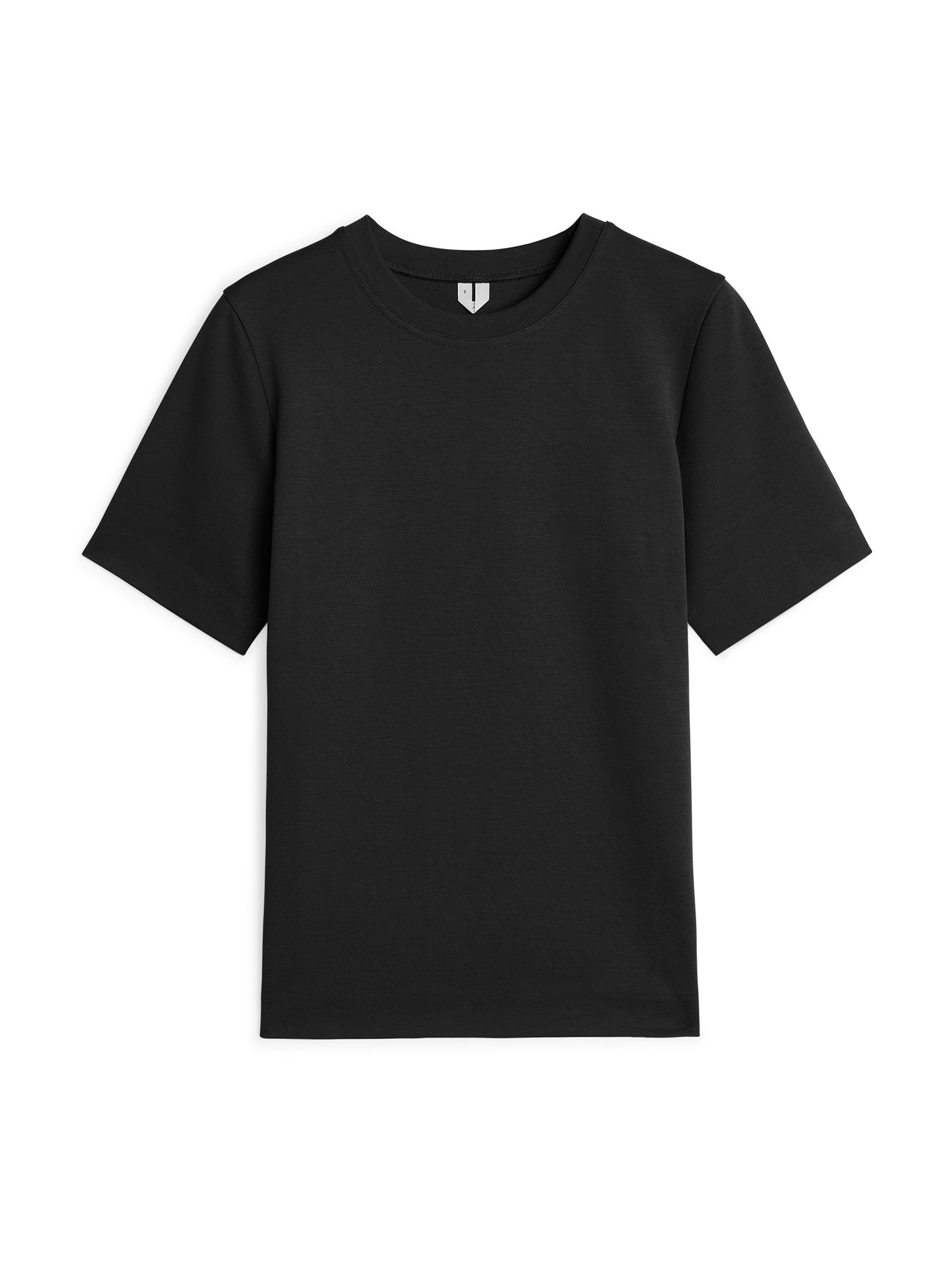 Fabric Swatch image of Arket heavy-weight t-shirt in black