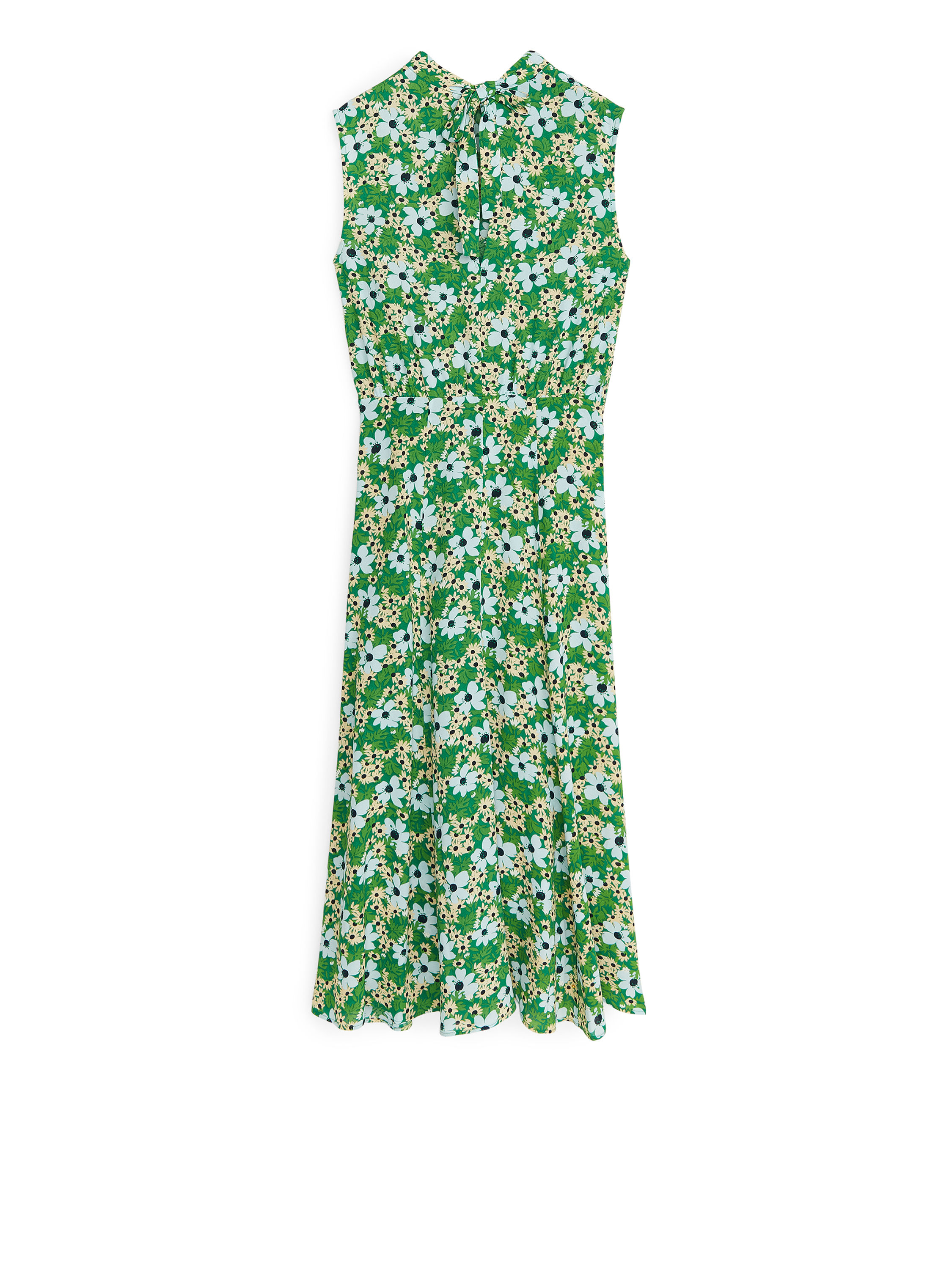 Fabric Swatch image of Arket floral crepe dress in green
