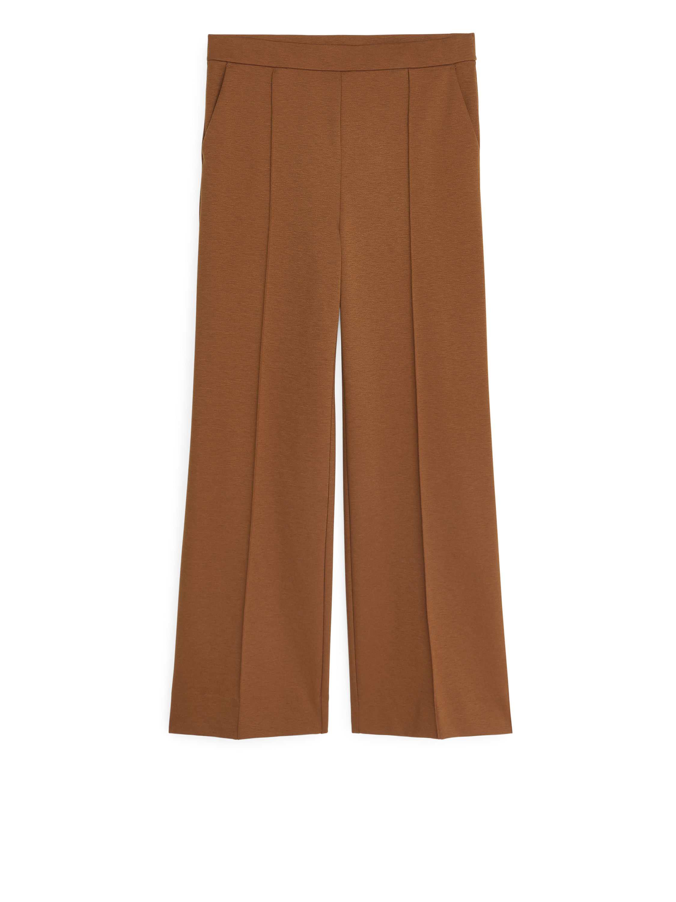 Fabric Swatch image of Arket milano rib trousers in beige
