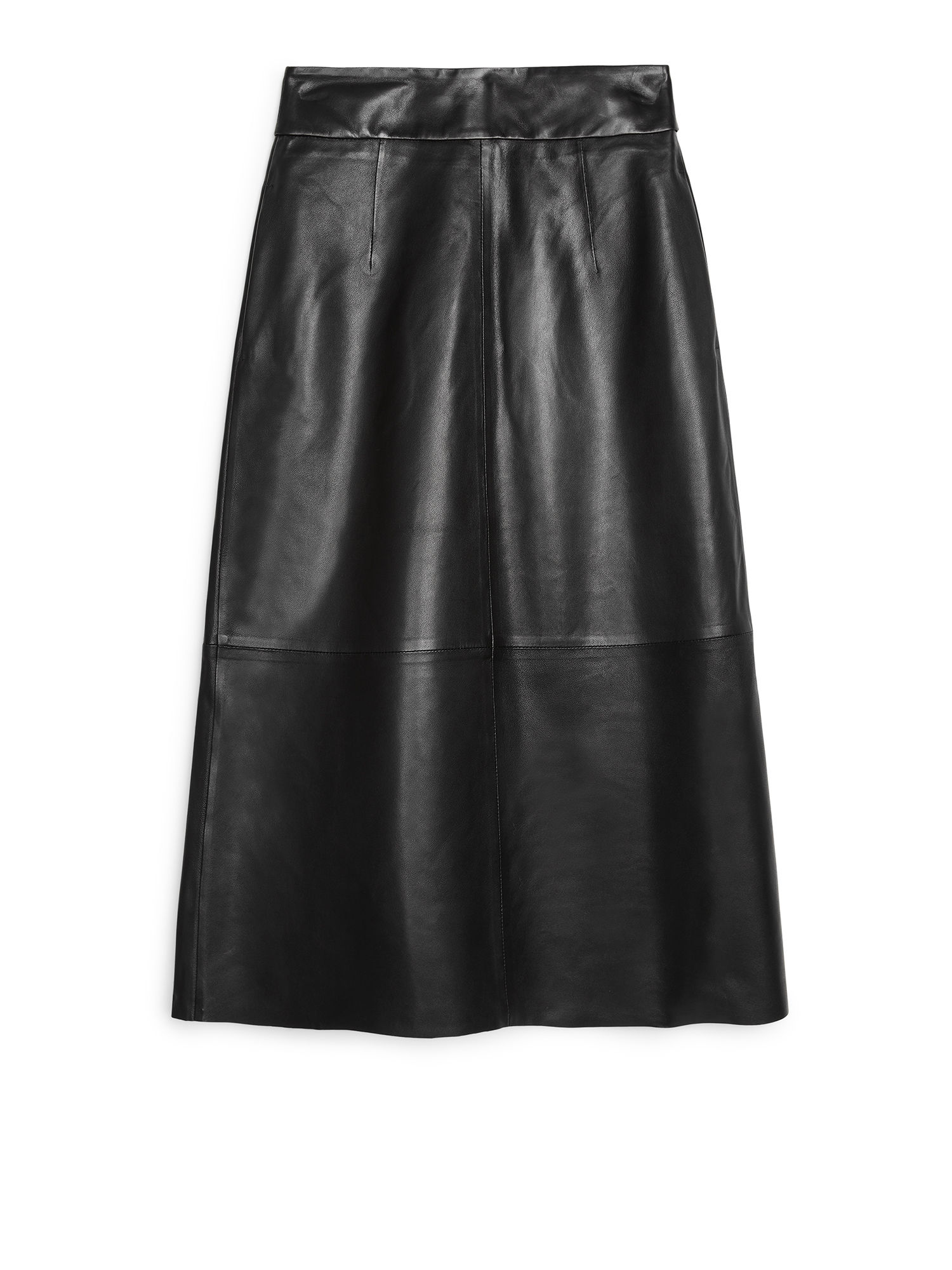 Fabric Swatch image of Arket leather skirt in black