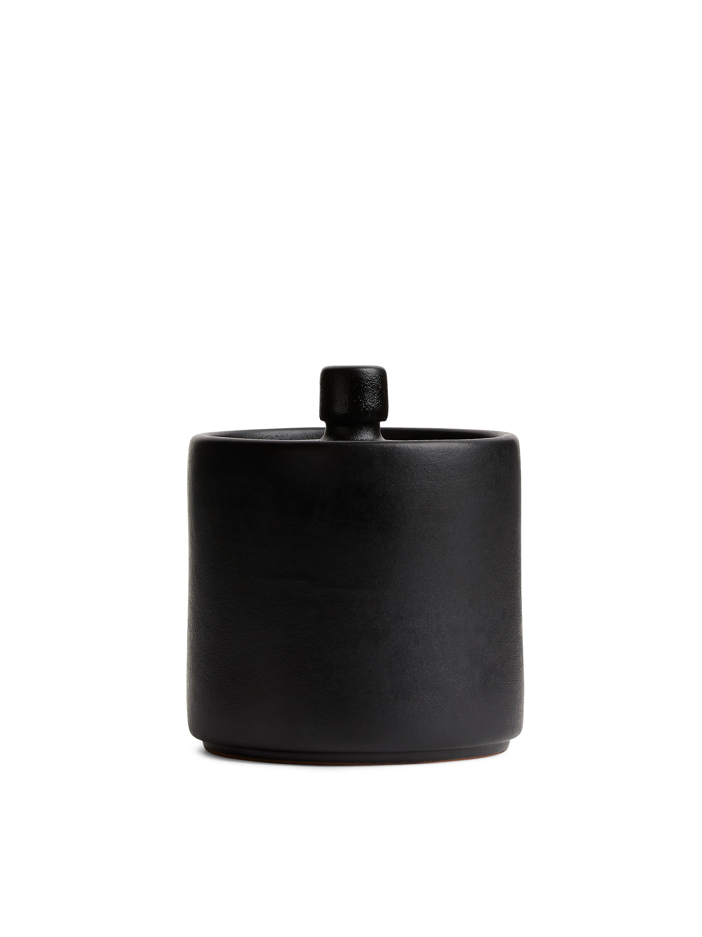 Fabric Swatch image of Arket terracotta canister 7,5 cm in black