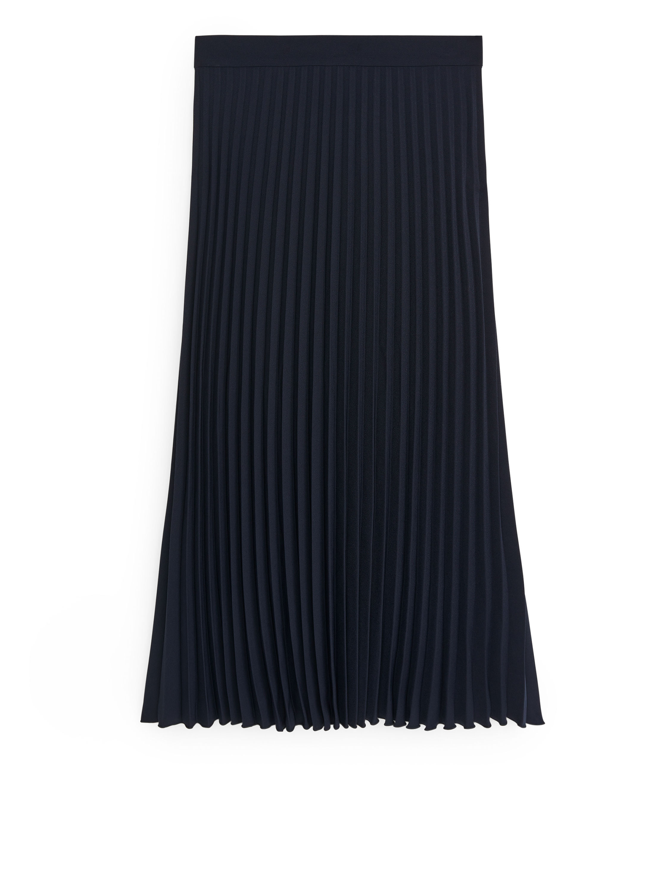 Fabric Swatch image of Arket pleated crepe skirt in blue