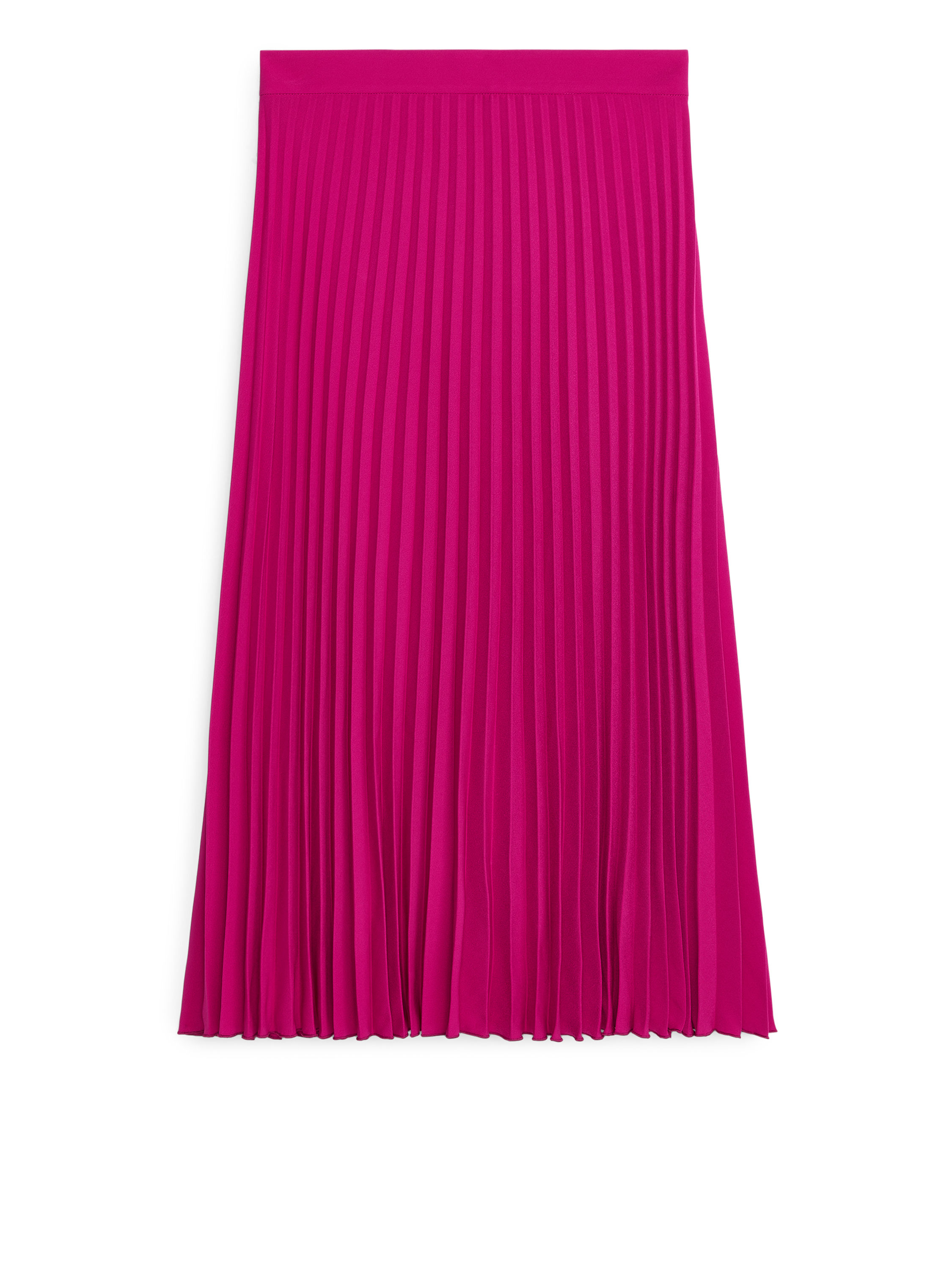 Fabric Swatch image of Arket pleated crepe skirt in pink