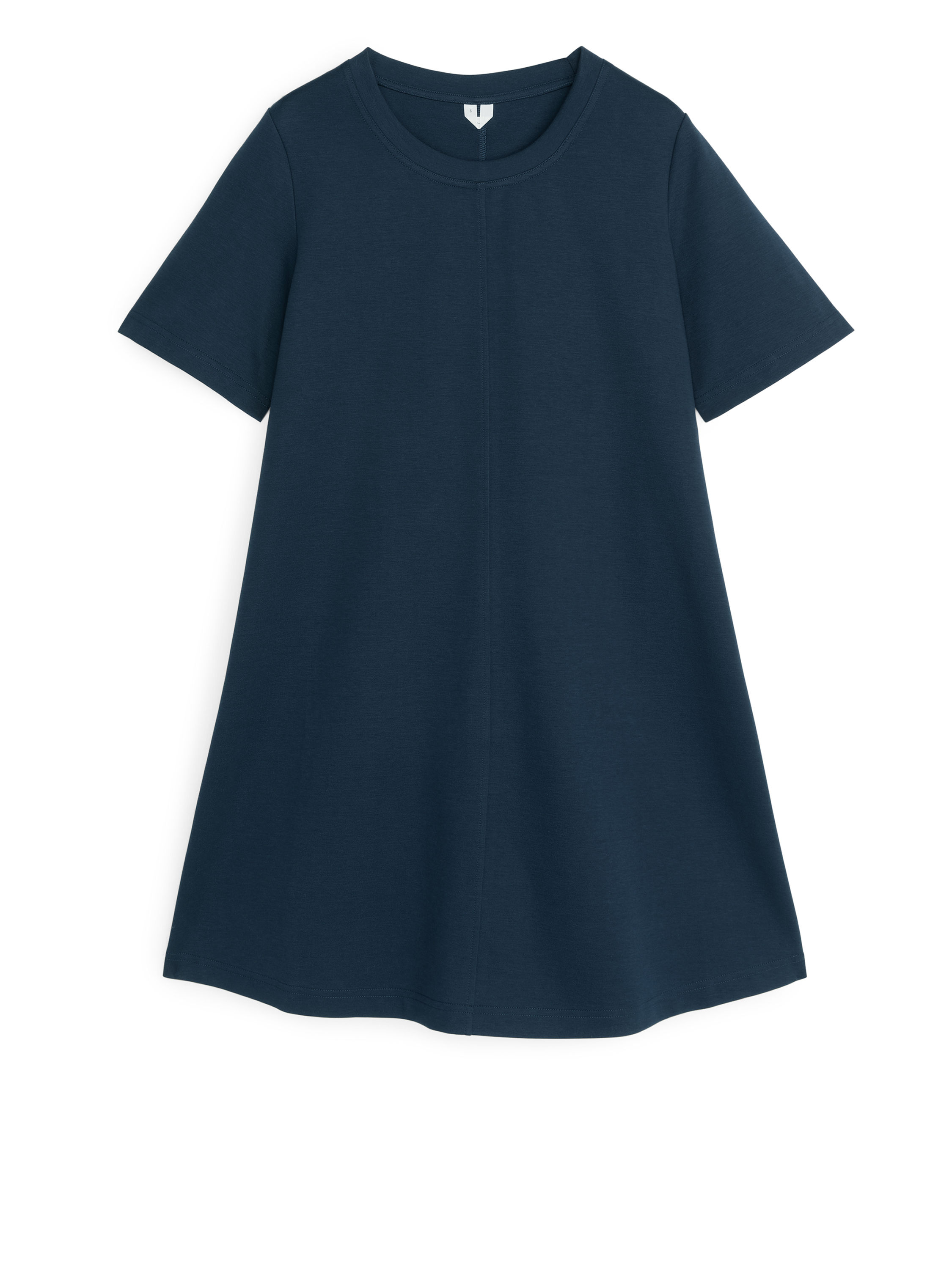 Fabric Swatch image of Arket no img-interlock t-shirt dress in blue
