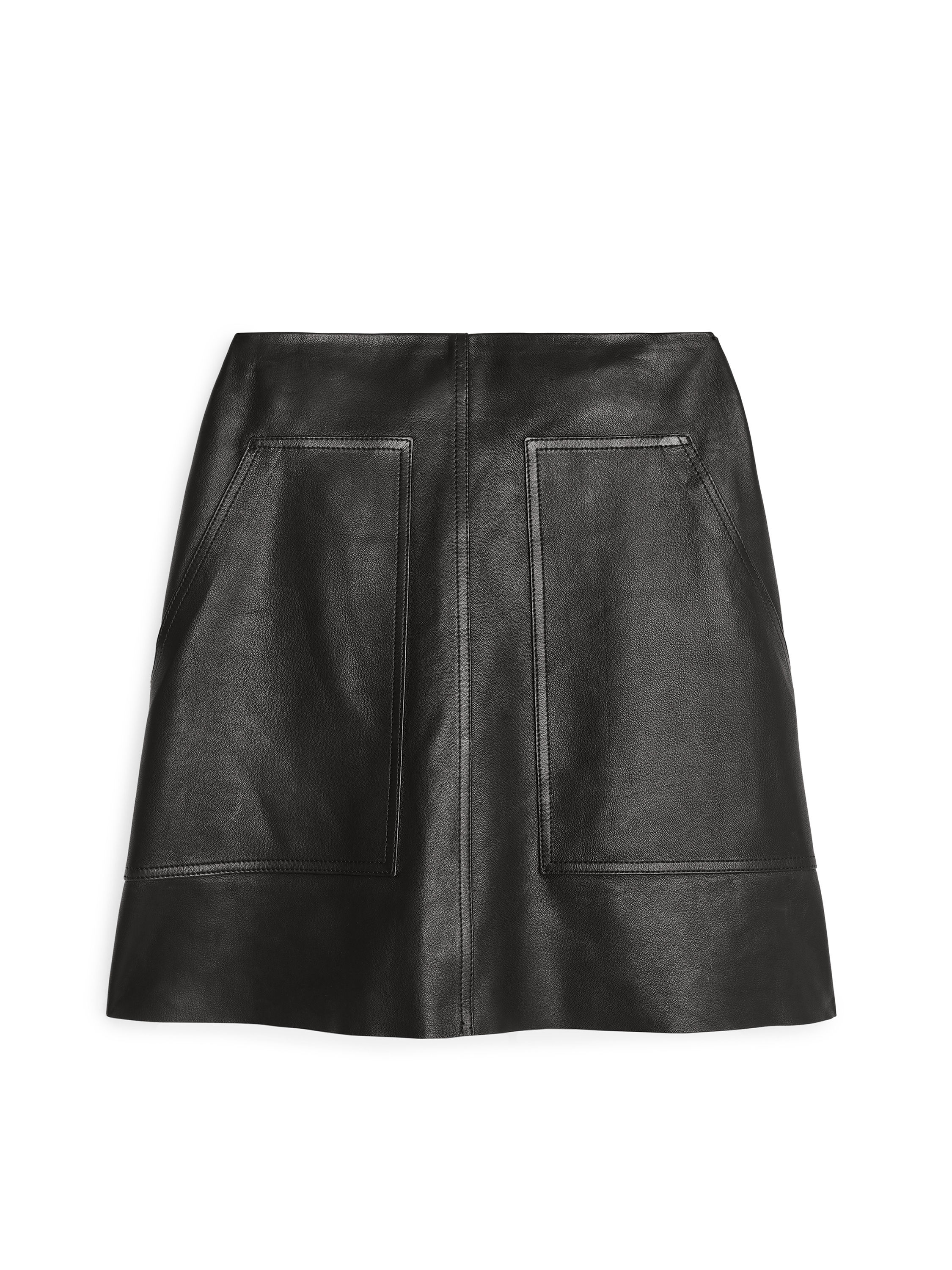 Fabric Swatch image of Arket no fs-leather mini skirt in black