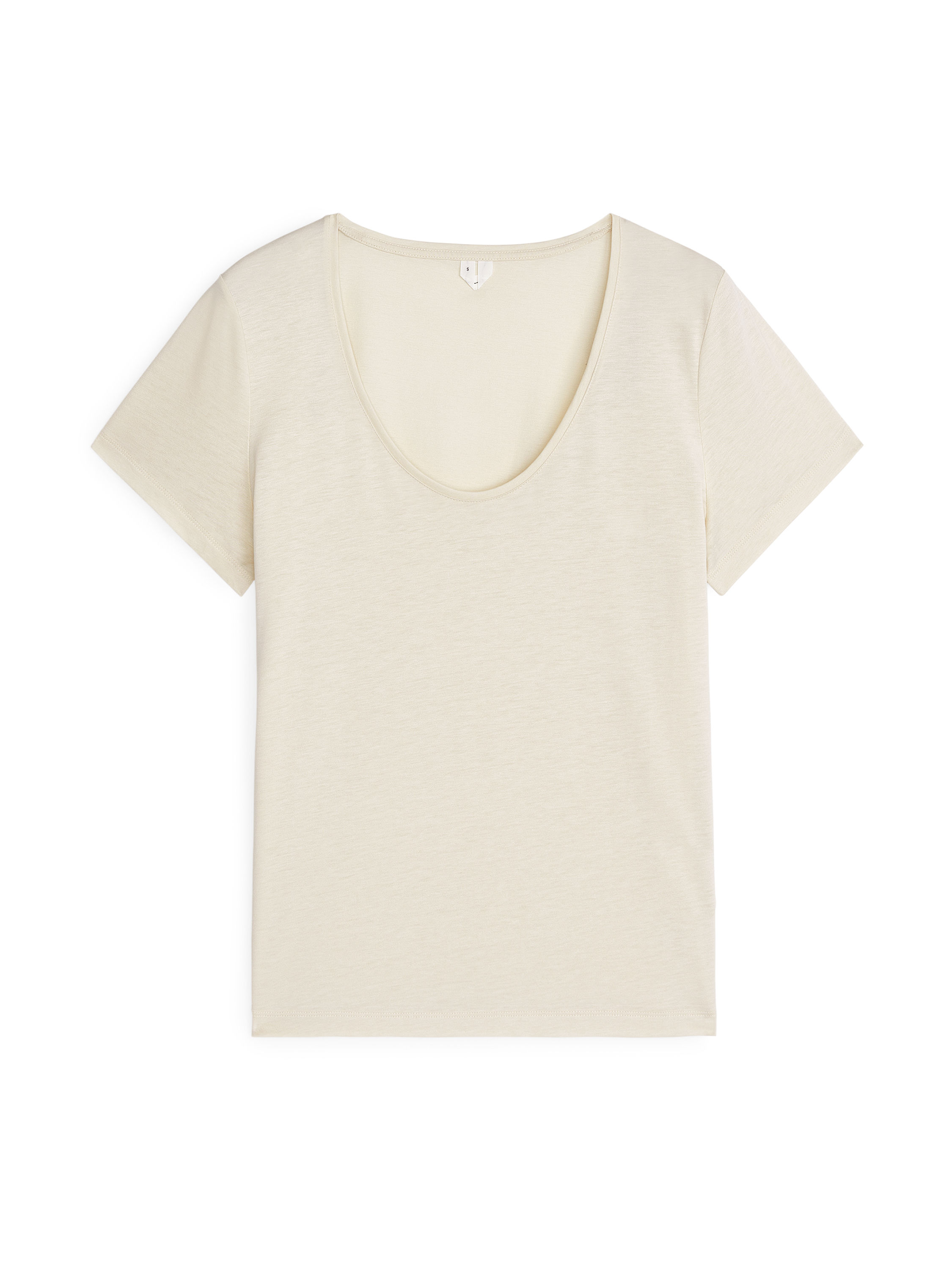 Fabric Swatch image of Arket lyocell blend t-shirt in beige