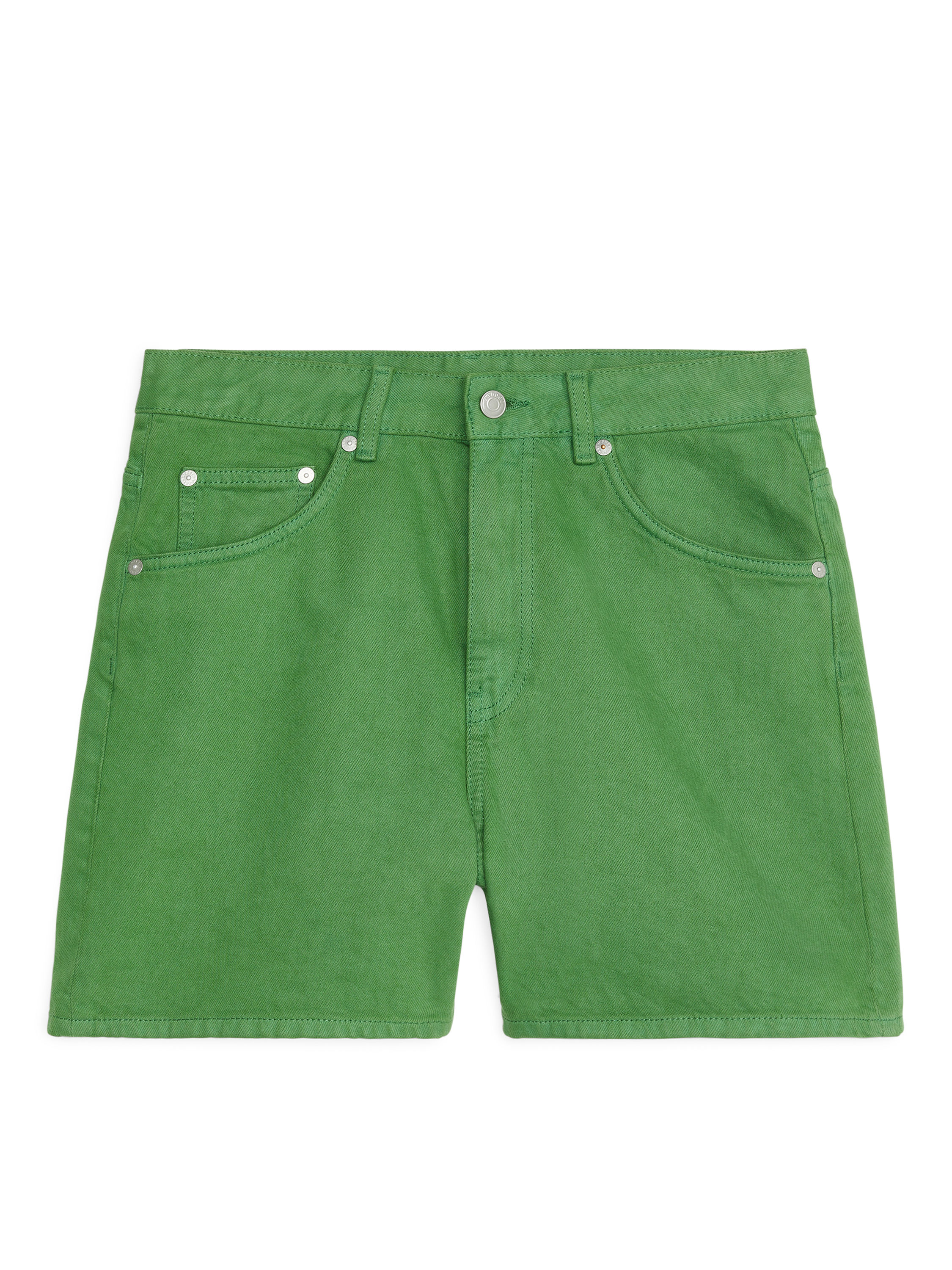 Fabric Swatch image of Arket denim shorts in green