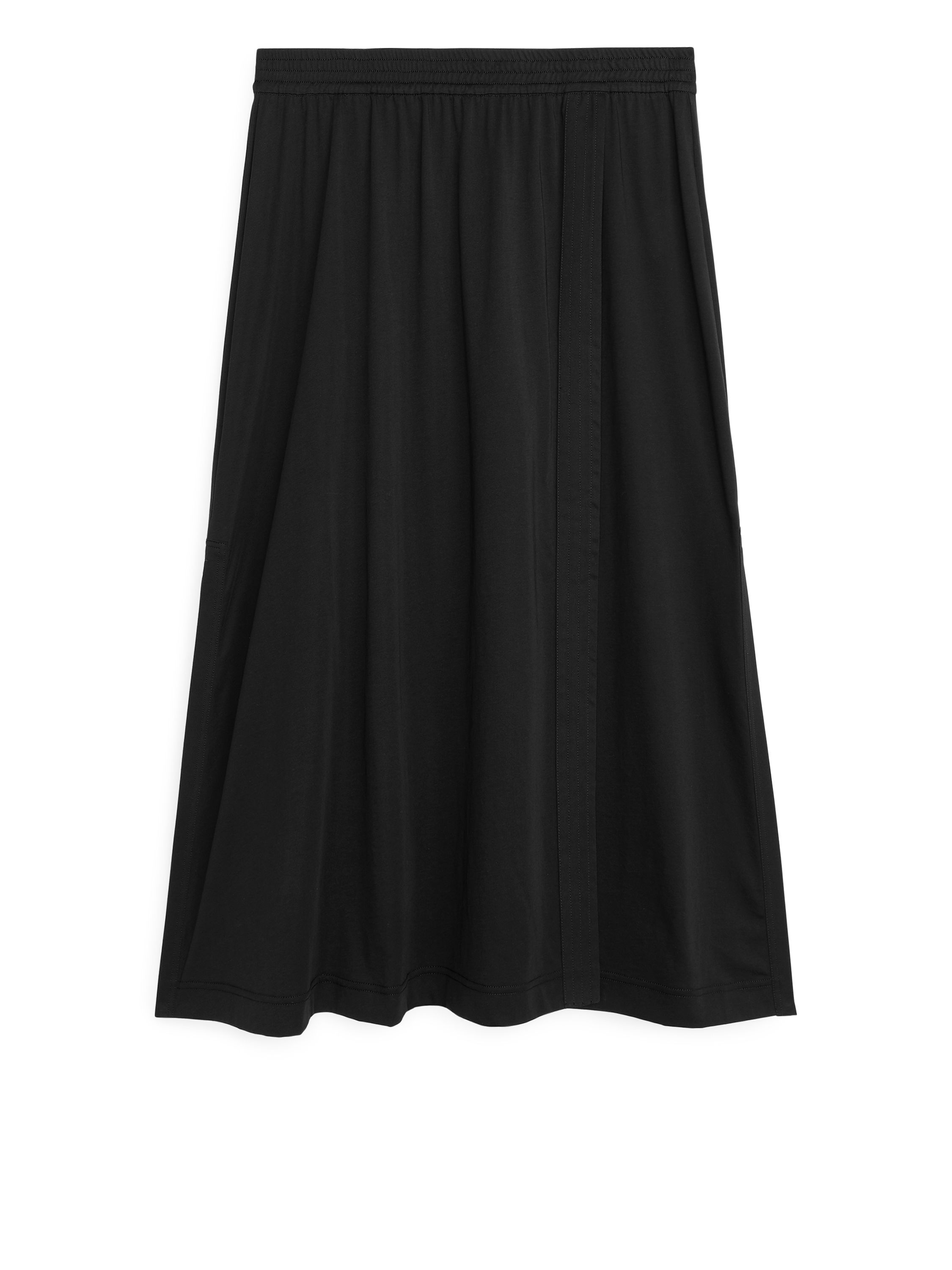 Fabric Swatch image of Arket wrap-style jersey skirt in black