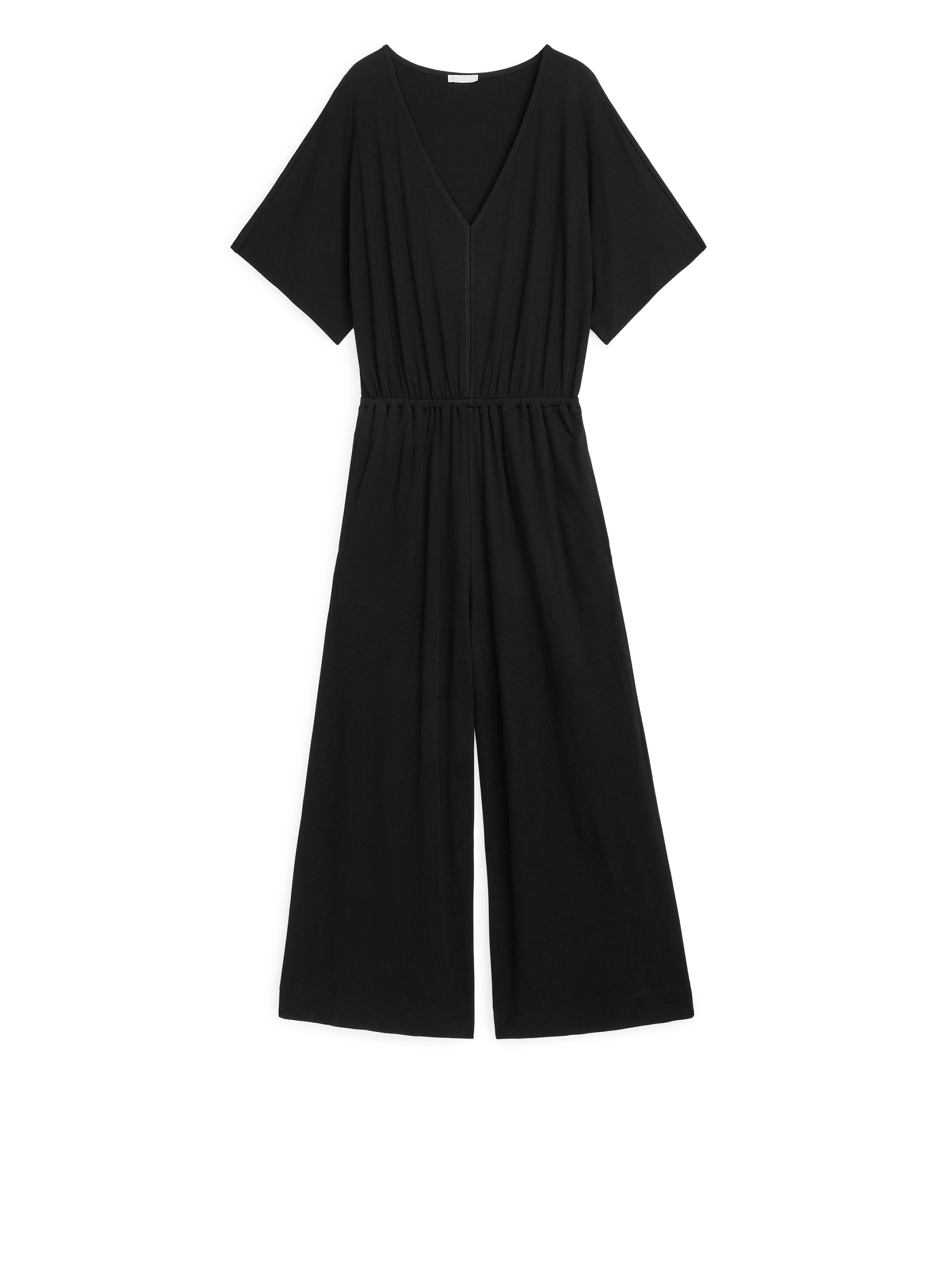 Fabric Swatch image of Arket no fs-interlock jersey jumpsuit in black