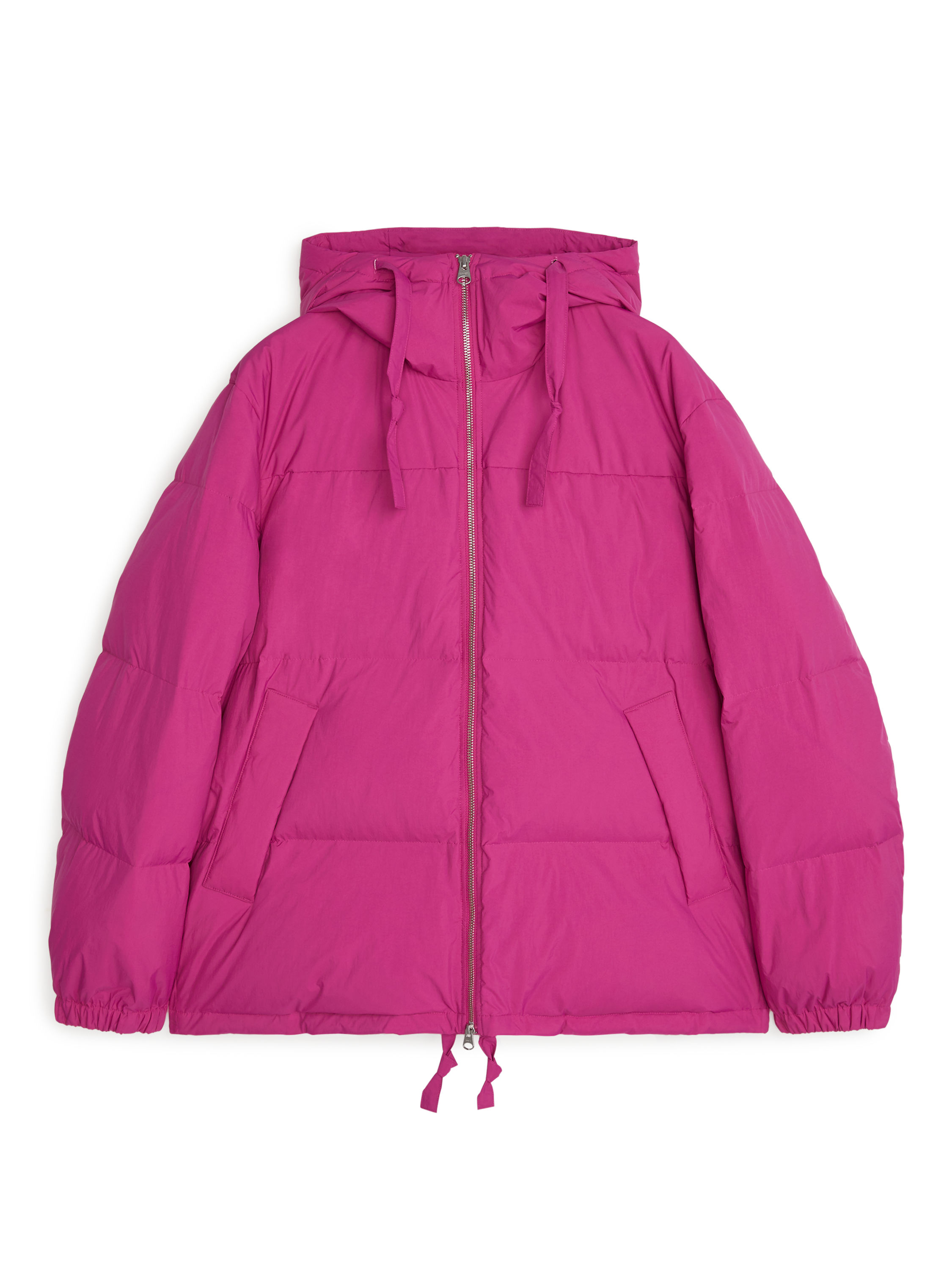 Fabric Swatch image of Arket down puffer jacket in pink