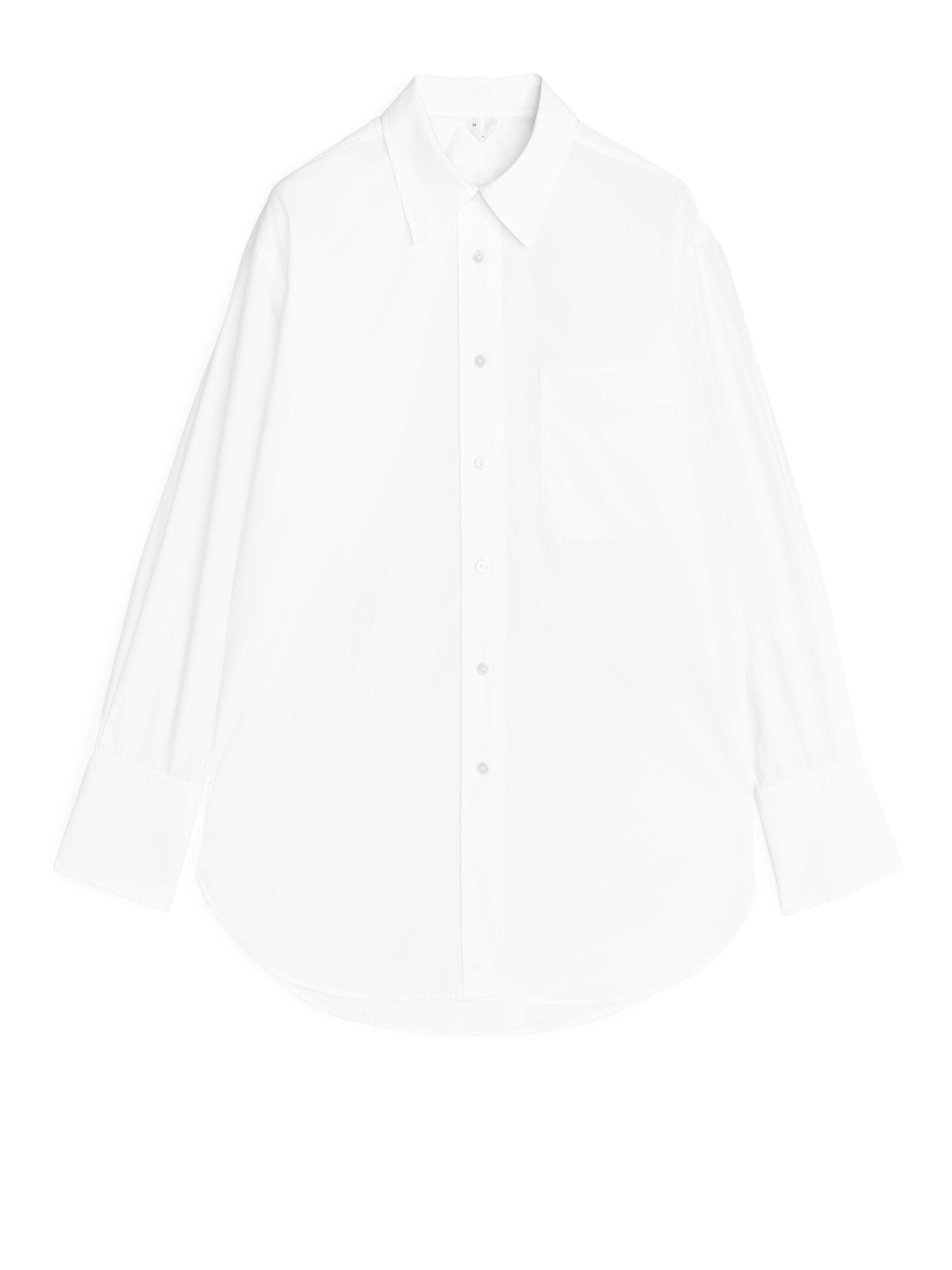 Fabric Swatch image of Arket oversized poplin shirt in white